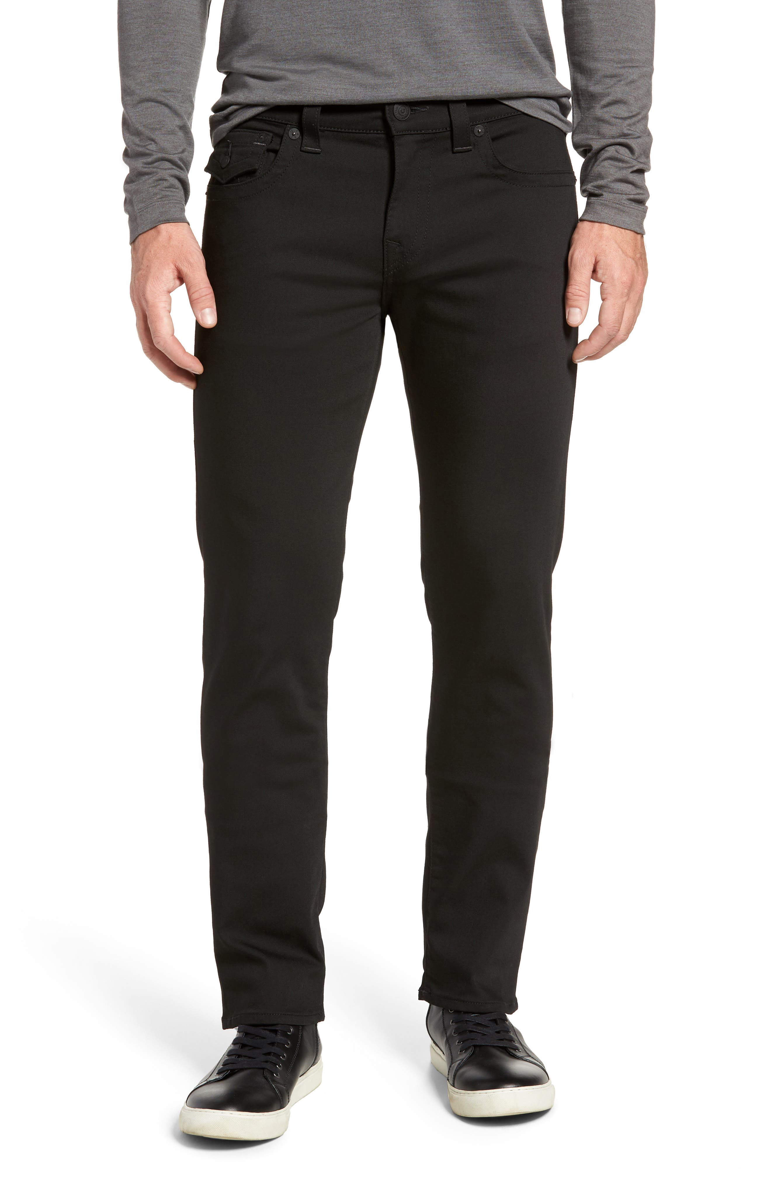 Geno Straight Fit Jeans,                         Main,                         color, NIGHTFALL