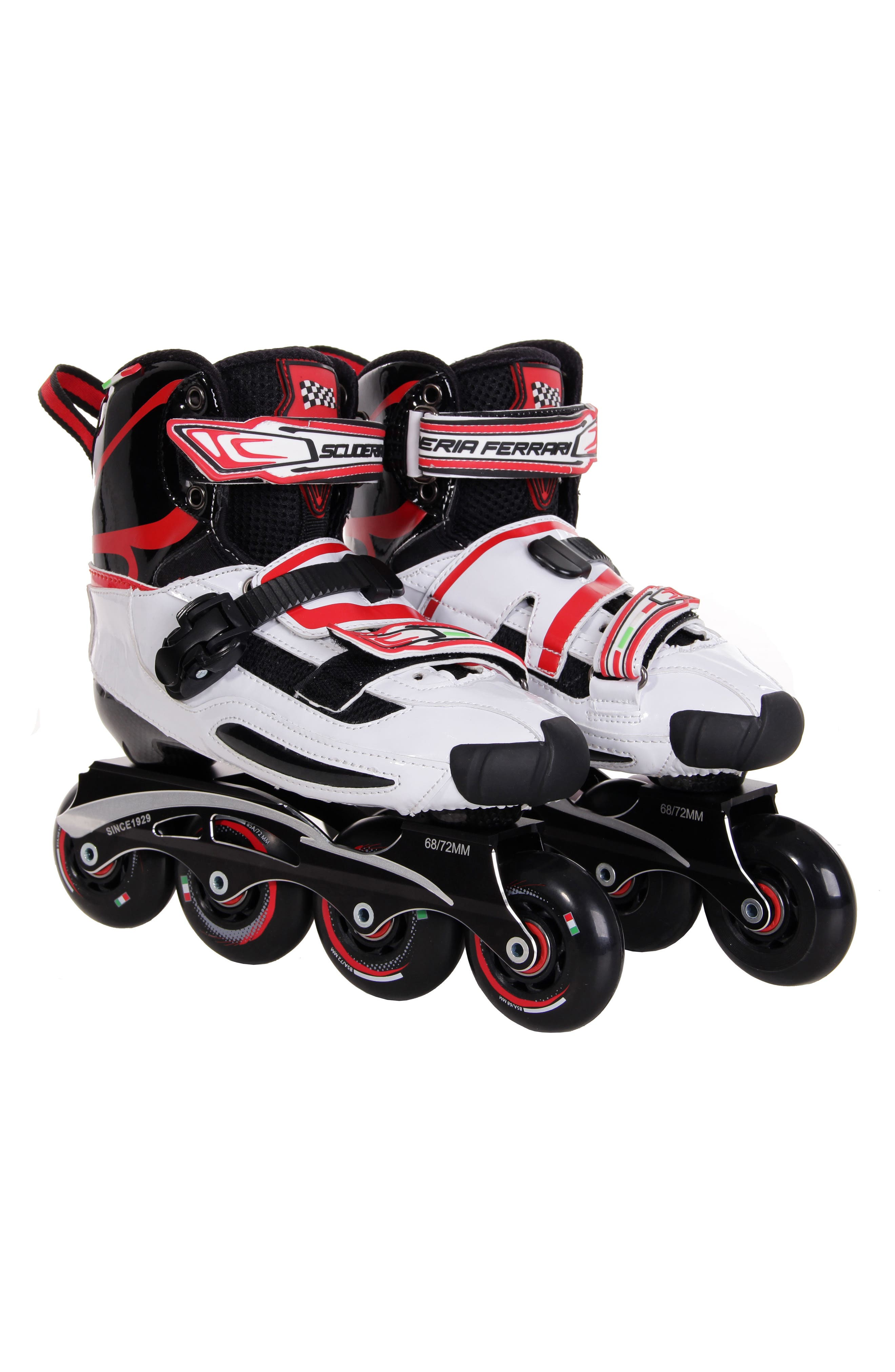 Carbon Fiber Slalom Inline Skates with Interchangeable Chassis,                         Main,                         color, WHITE
