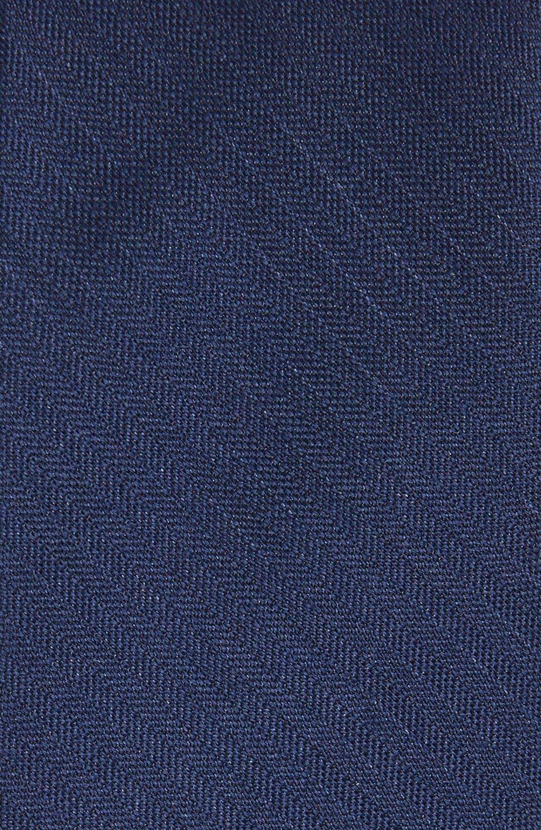 Solid Wool & Silk Tie,                             Alternate thumbnail 2, color,                             NAVY