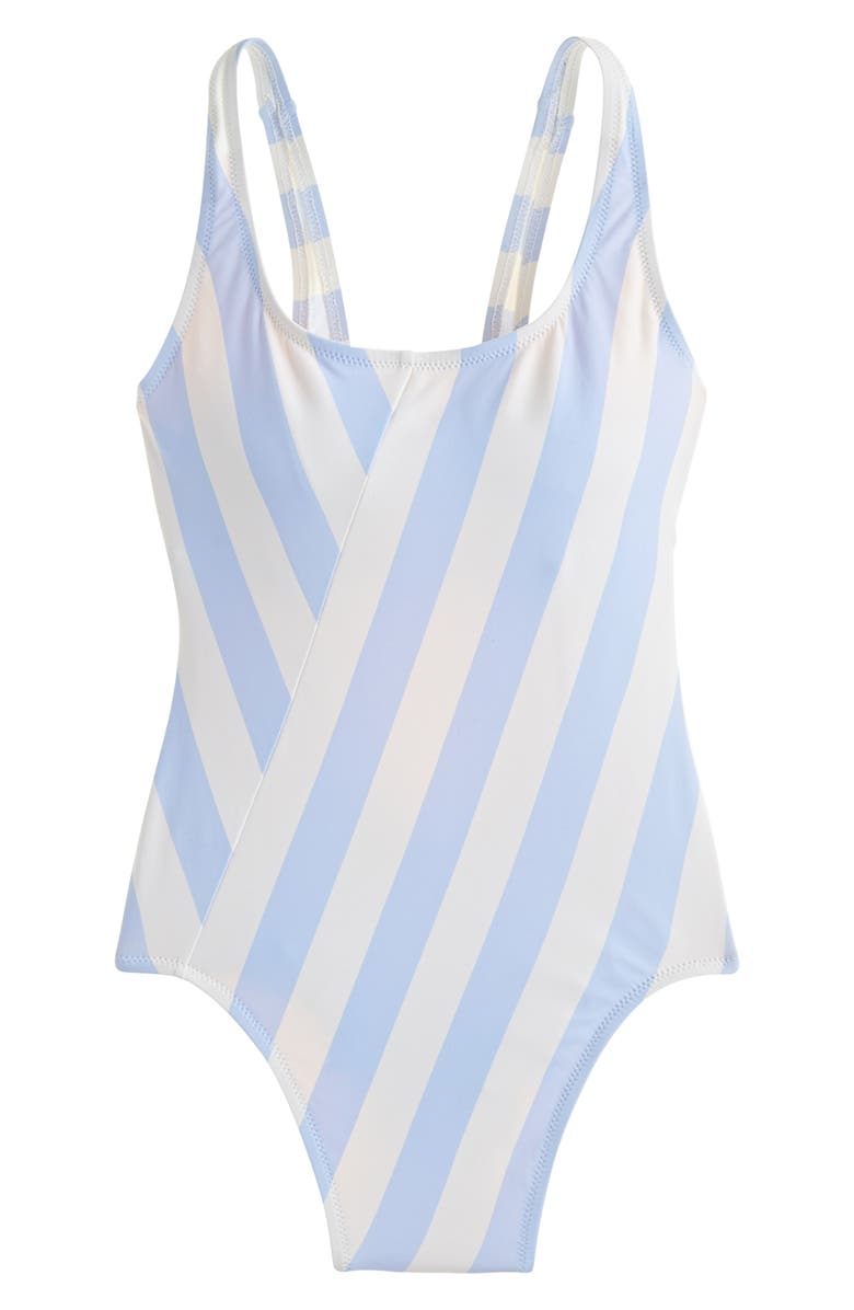 654972093f 1989 Stripe Scoop Back One-Piece Swimsuit, Main, color, PERI IVORY