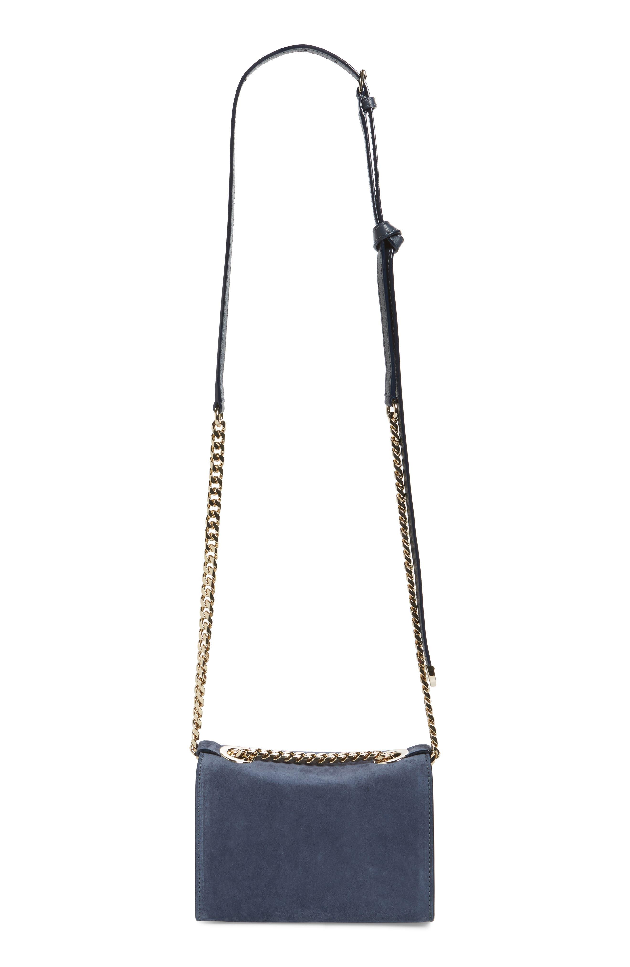 Mini Rebel Suede Crossbody Bag,                             Alternate thumbnail 3, color,                             400