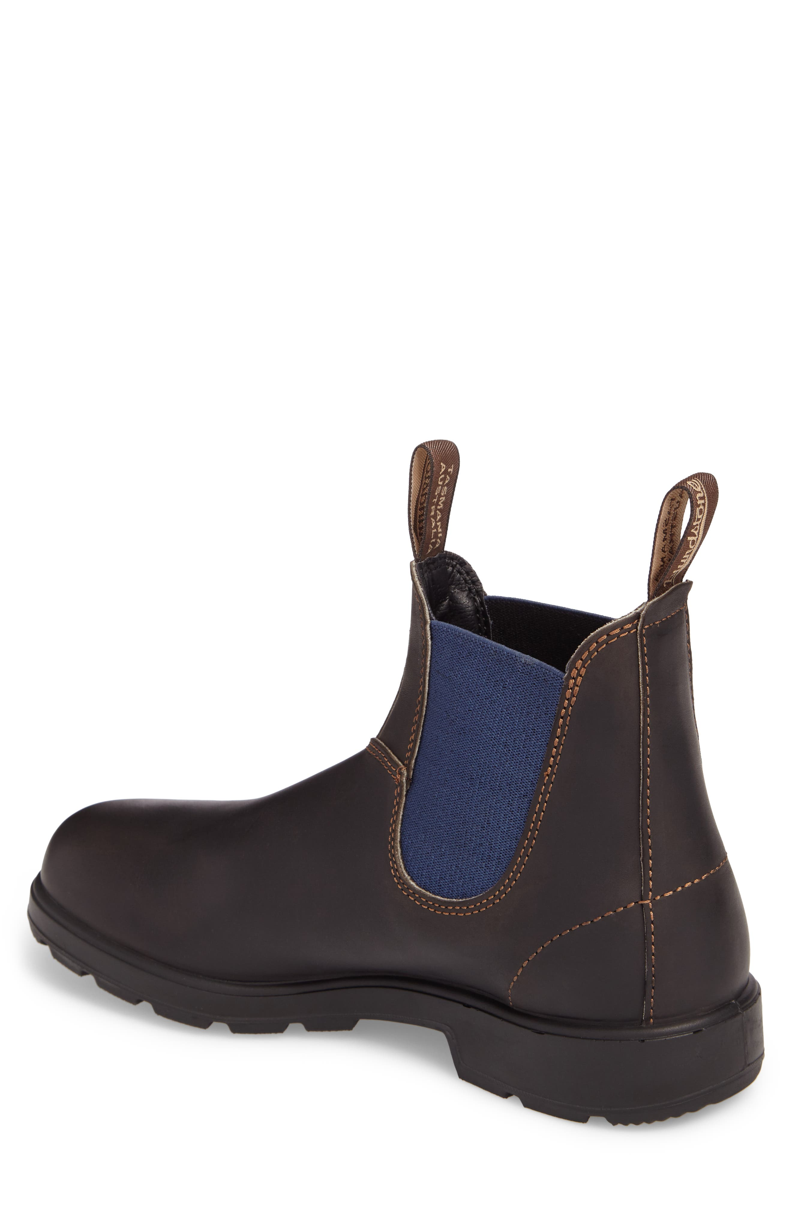 Chelsea Boot,                             Alternate thumbnail 2, color,                             BROWN/ BLUE LEATHER