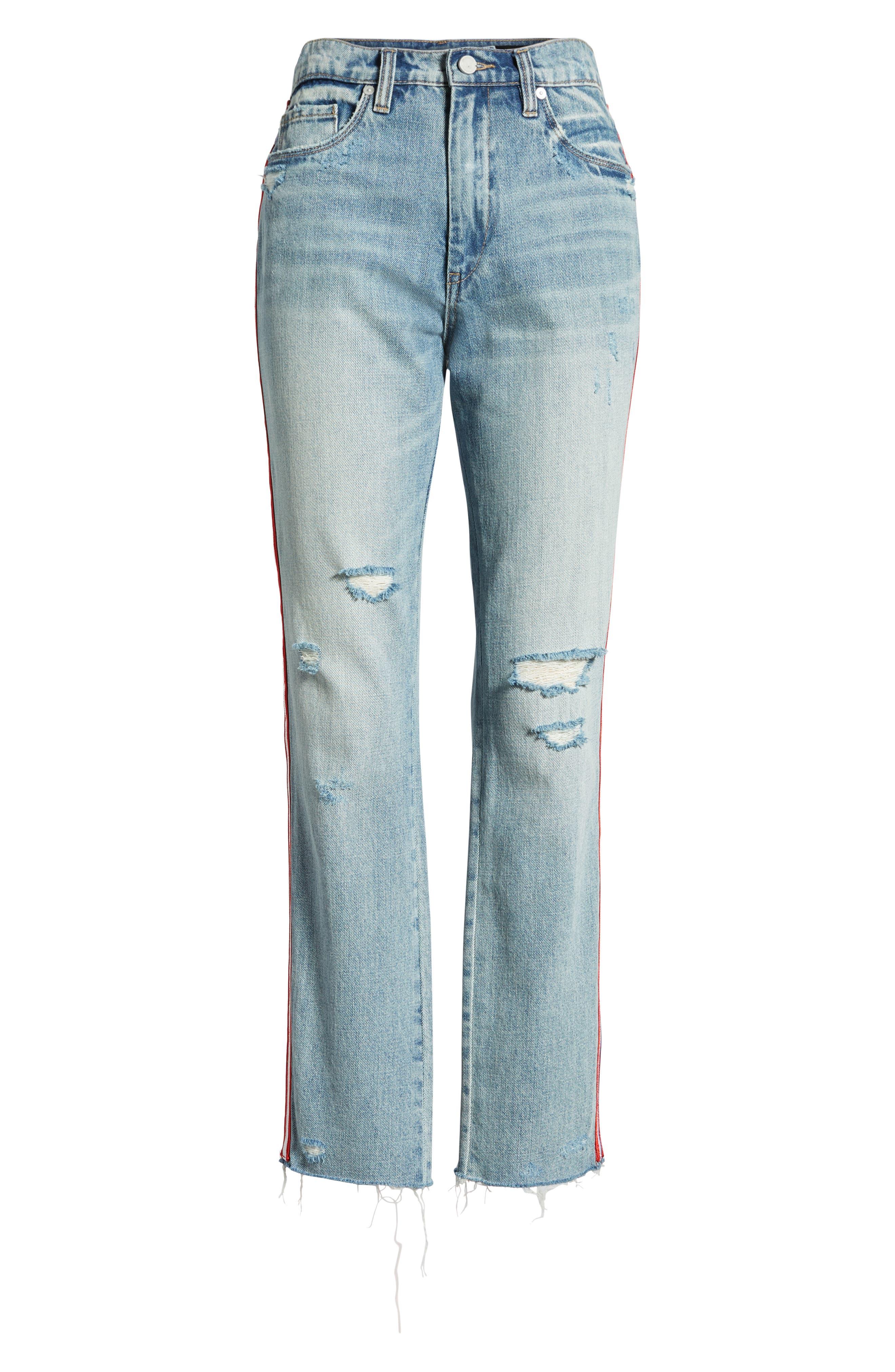 Now or Never Side Stripe Skinny Jeans,                             Alternate thumbnail 7, color,                             400