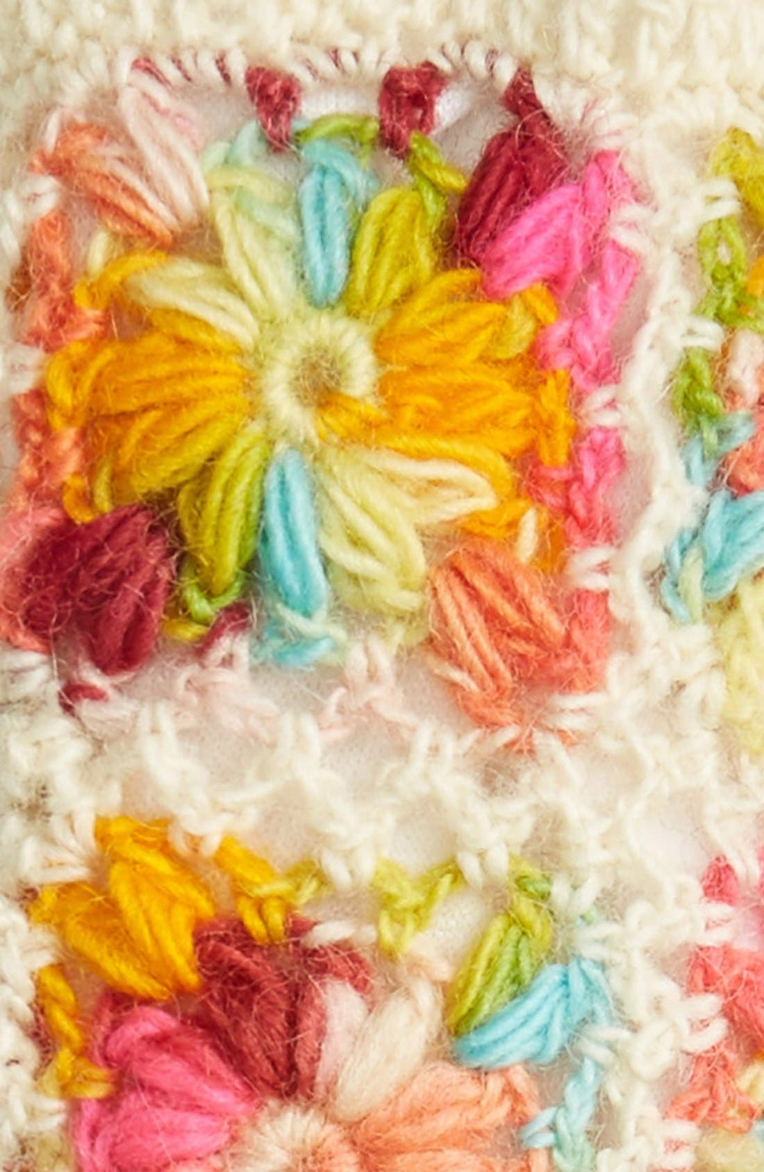 Flower Crochet Hand Warmers,                             Alternate thumbnail 15, color,