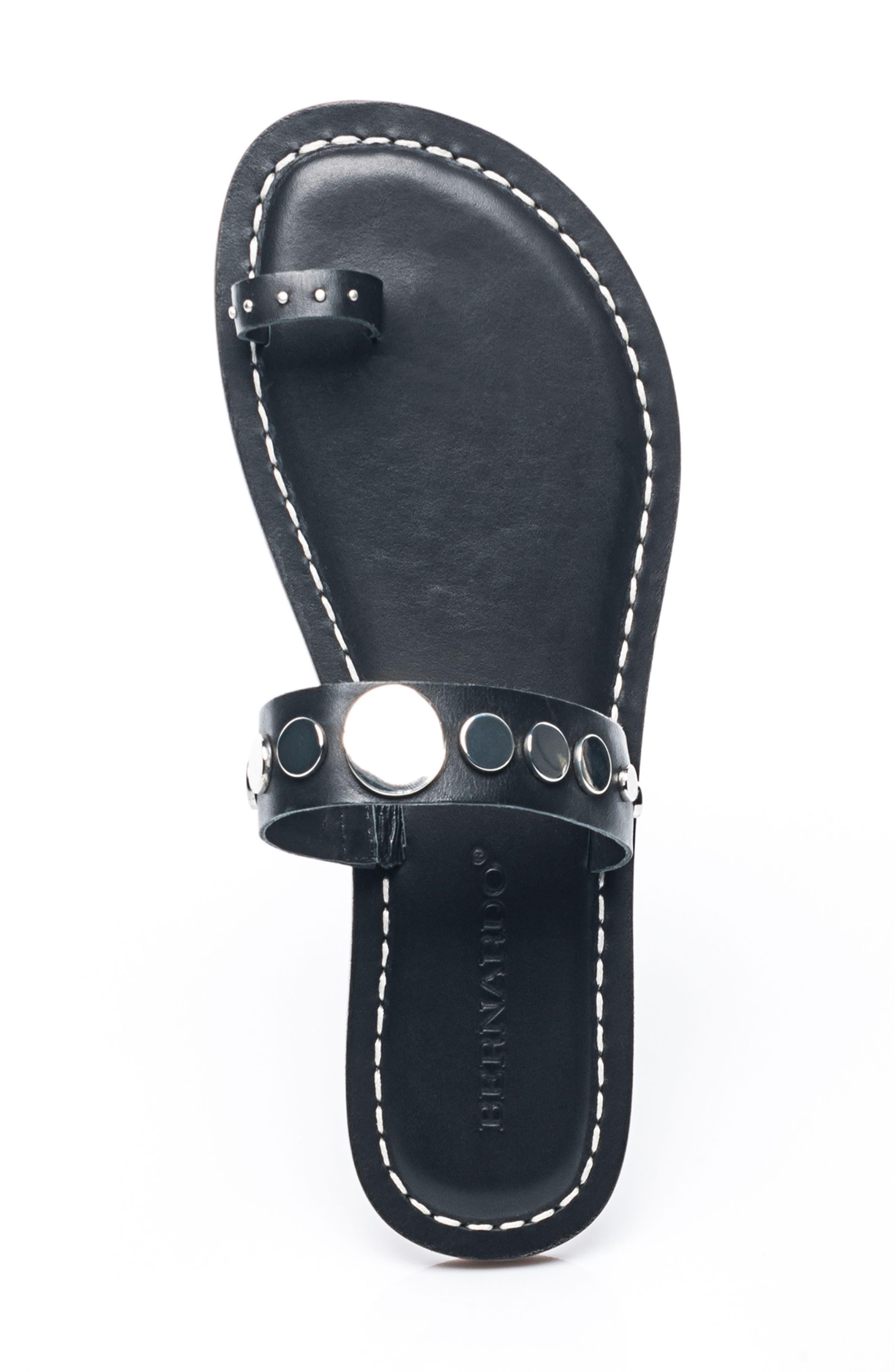 Bernardo Mattie Toe Ring Sandal,                             Alternate thumbnail 5, color,                             001