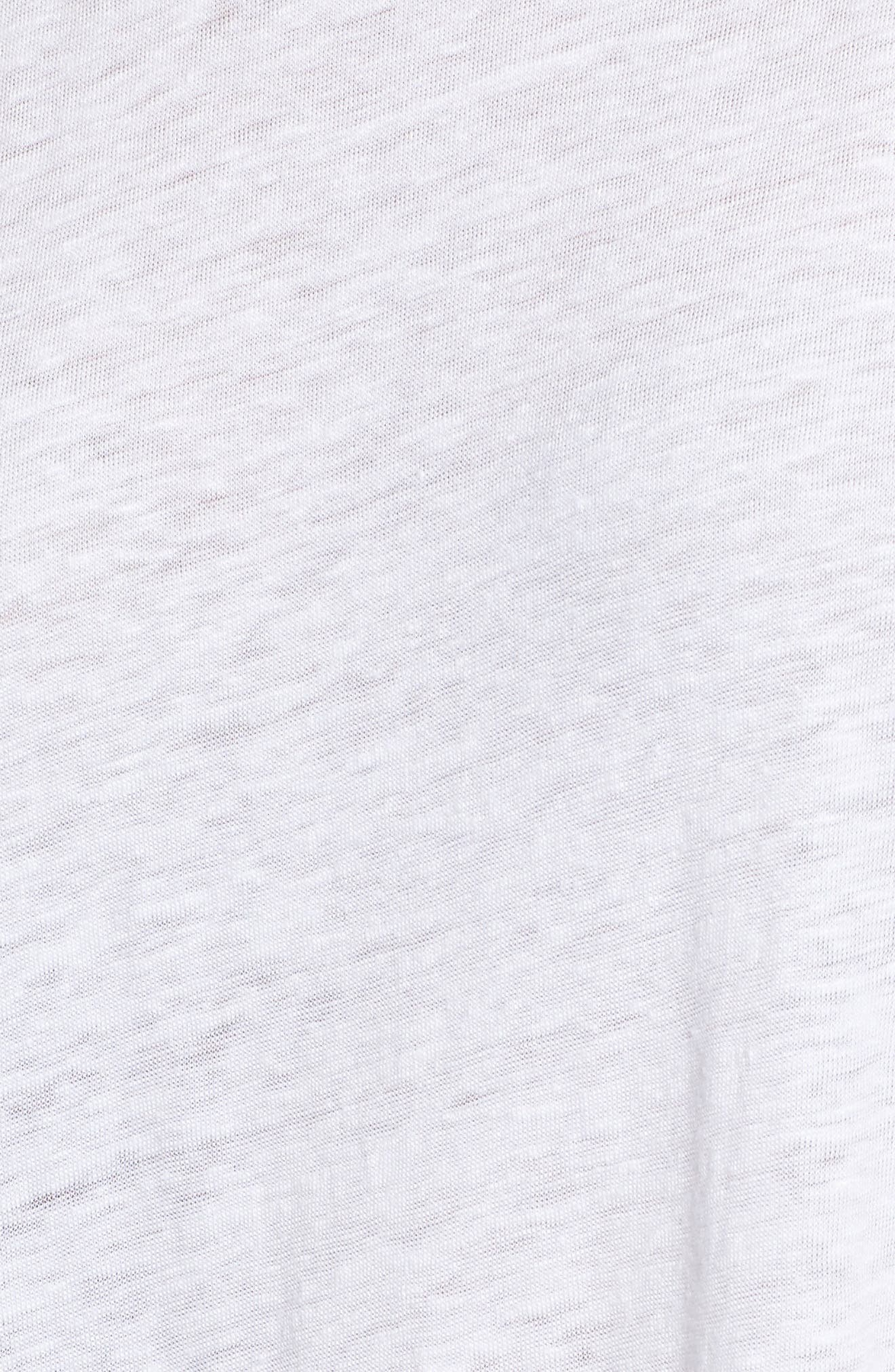 Ricki Cold Shoulder Tee,                             Alternate thumbnail 5, color,                             100