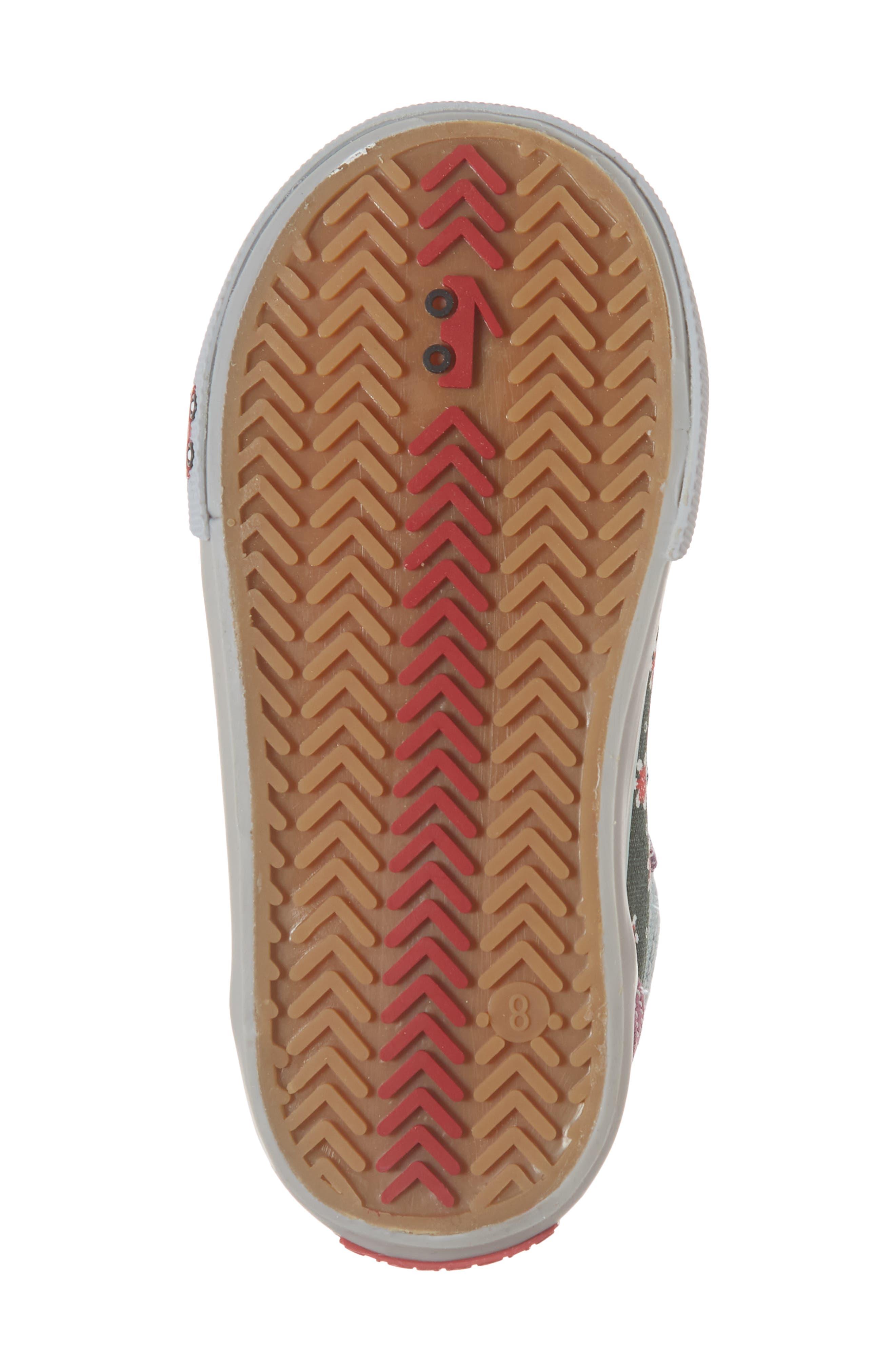 Kya Sneaker,                             Alternate thumbnail 6, color,                             GREEN FLORAL/MULTI