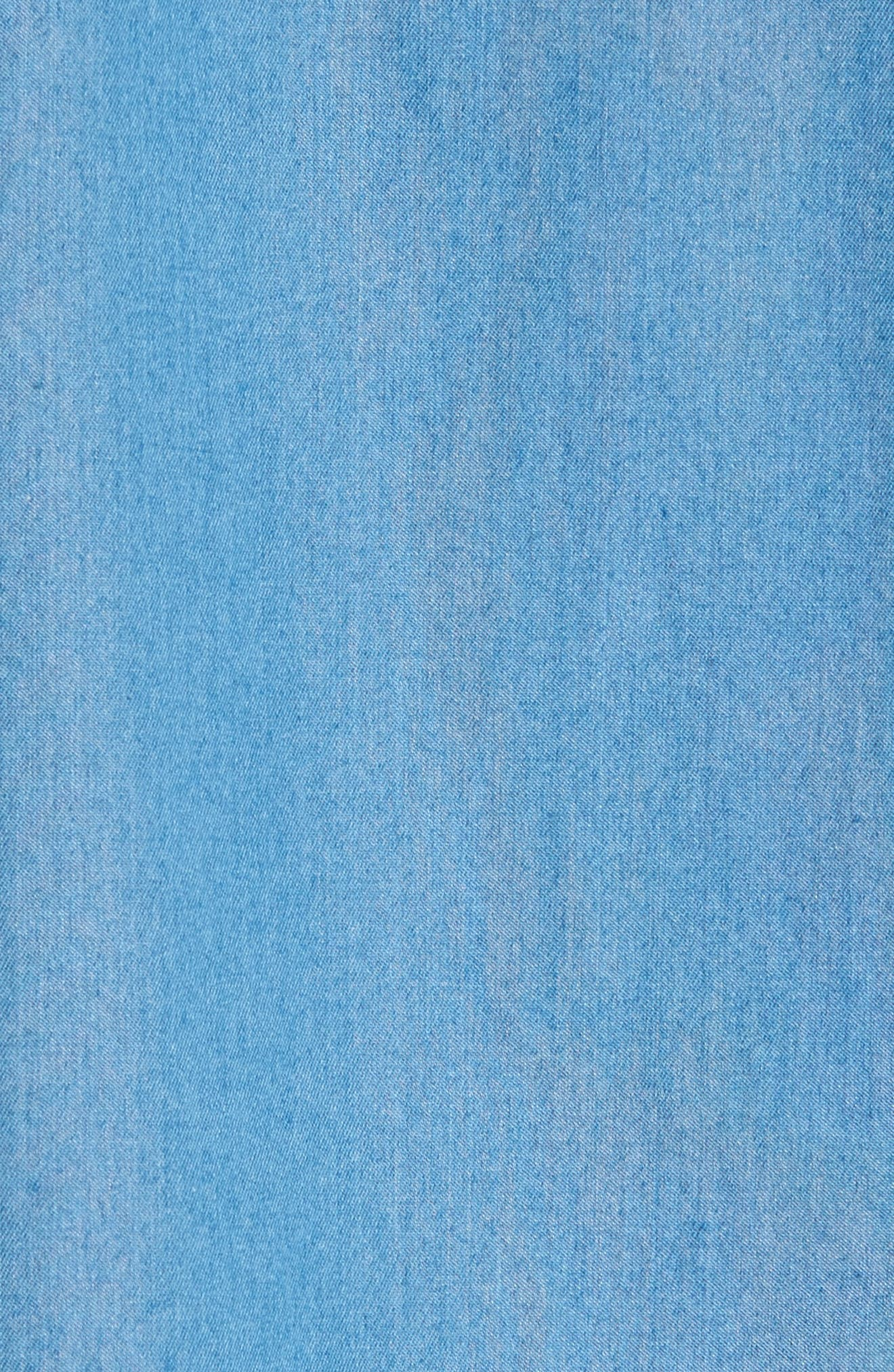 Reid Denim Sport Shirt,                             Alternate thumbnail 5, color,                             449