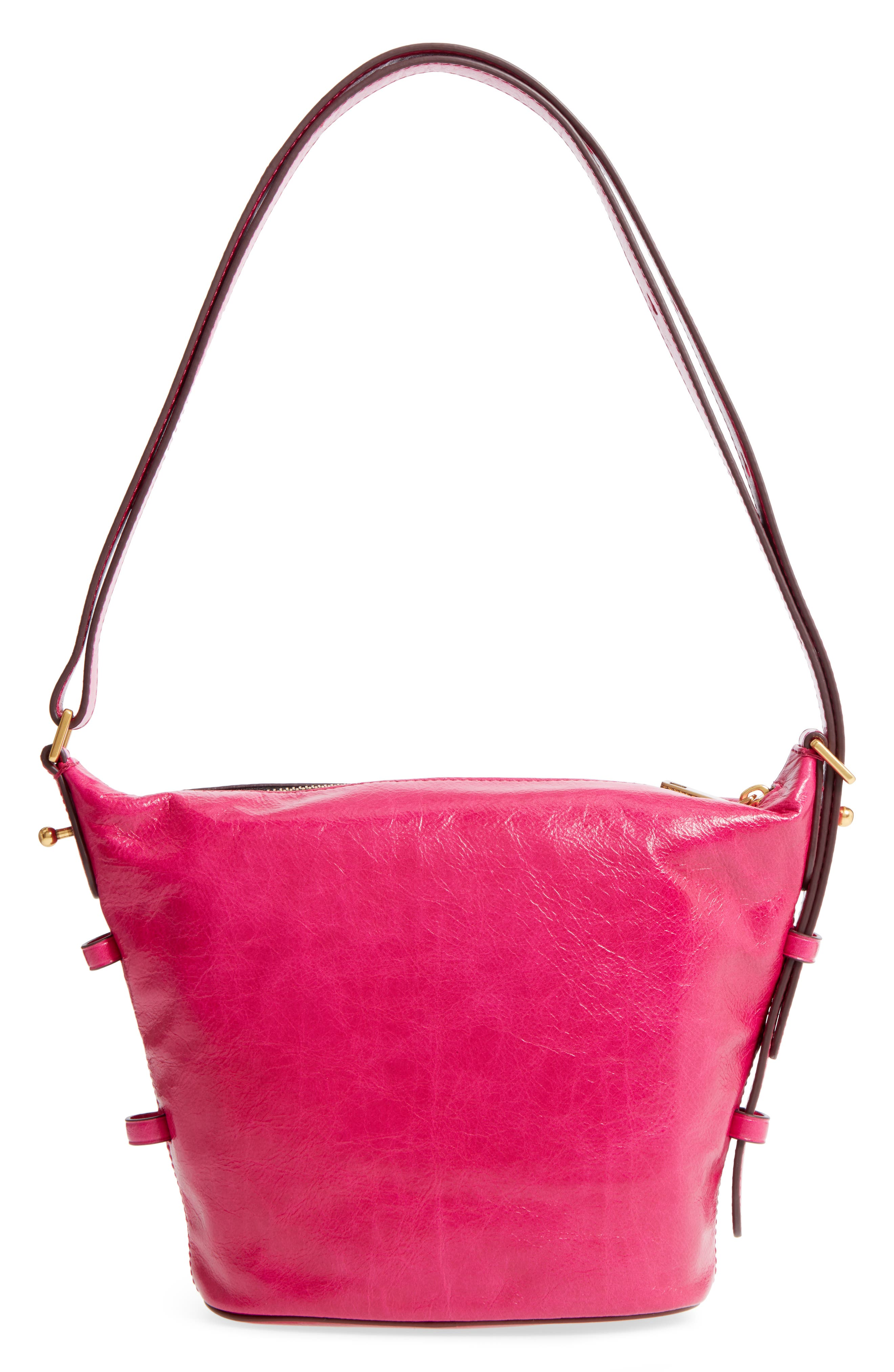 The Vintage Mini Sling Convertible Leather Hobo,                             Alternate thumbnail 3, color,                             651