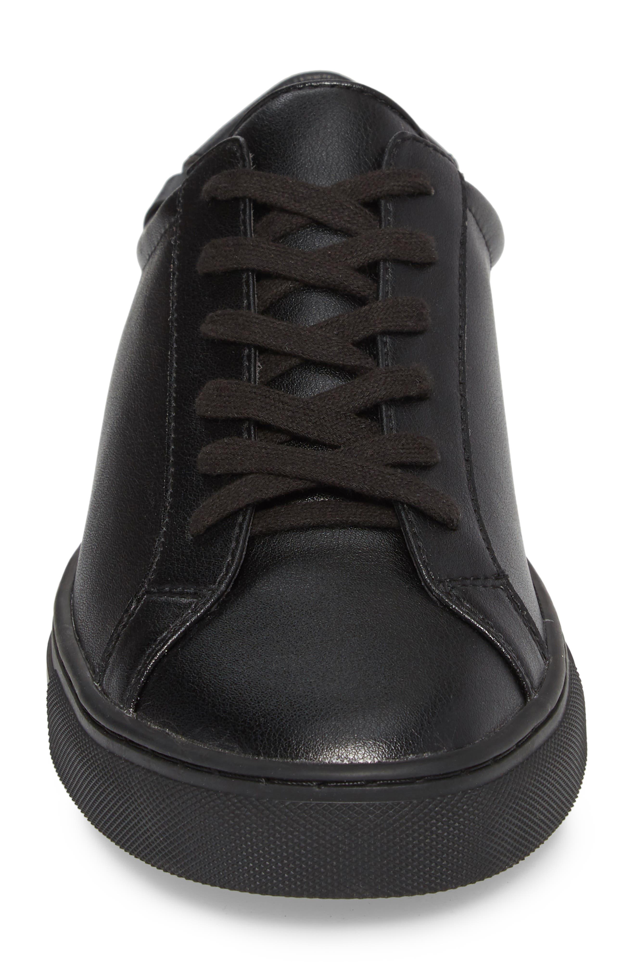 Original Low Top Sneaker,                             Alternate thumbnail 4, color,                             BLACK / BLACK