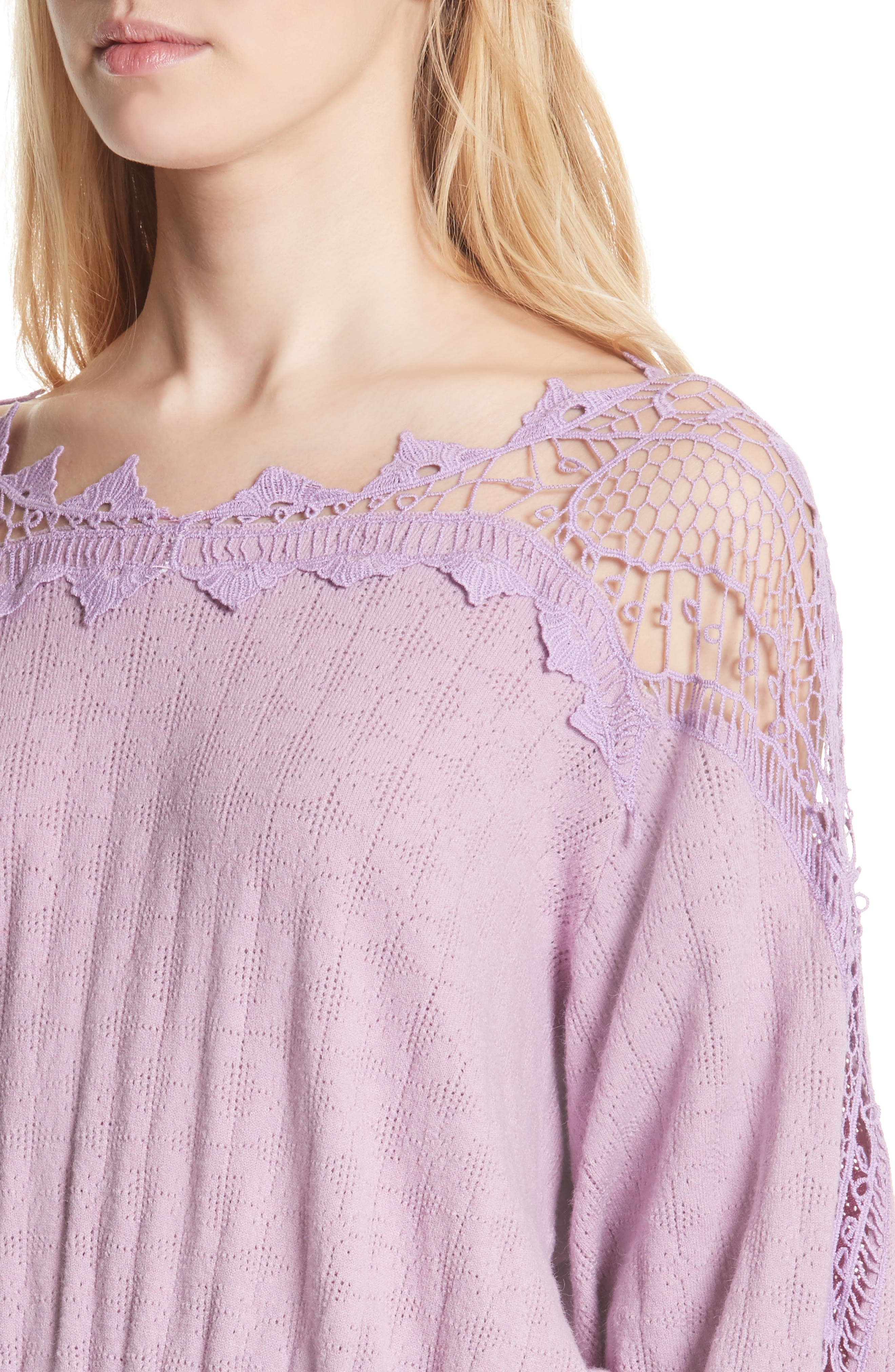 Love Lace Sweater,                             Alternate thumbnail 4, color,                             531