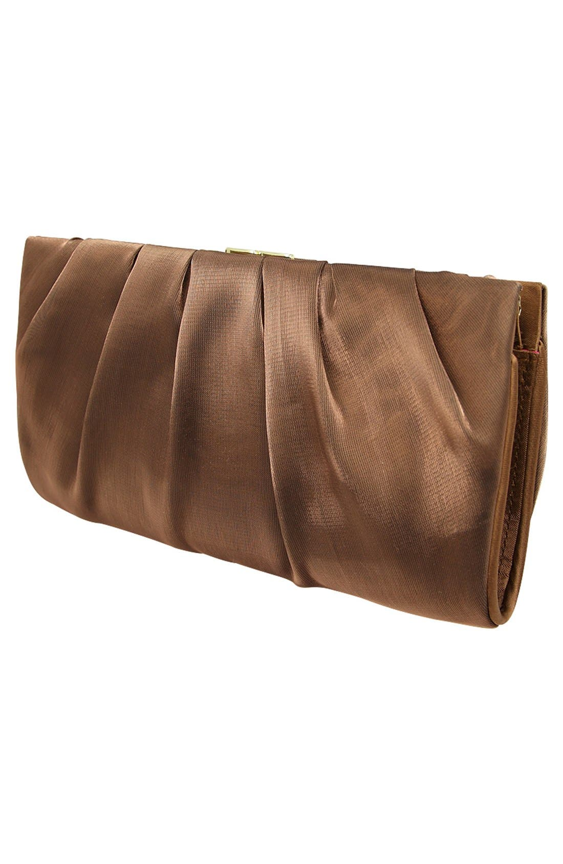 'Larry' Satin Clutch,                             Alternate thumbnail 4, color,                             200