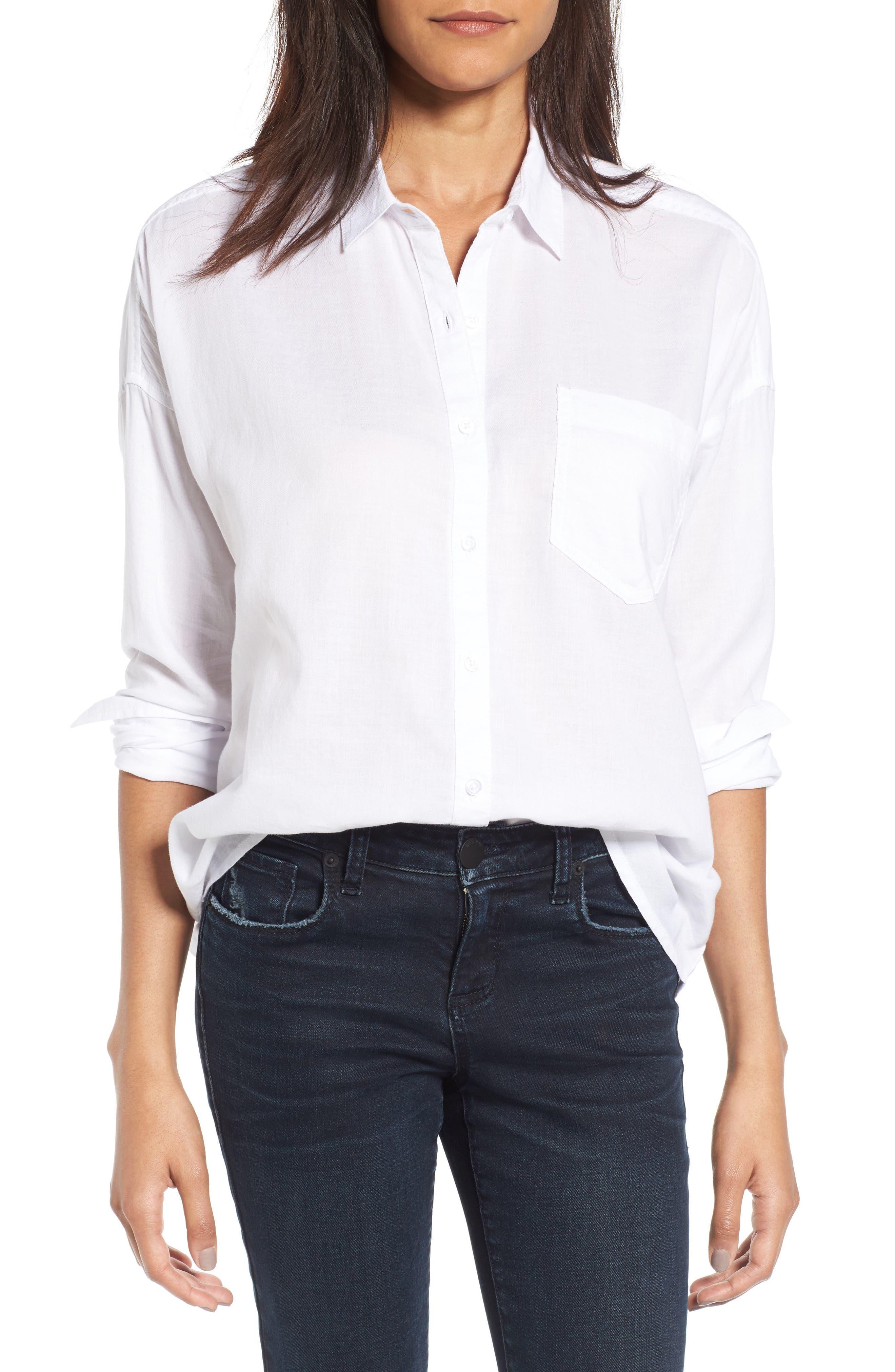 BP.,                             Cotton Shirt,                             Main thumbnail 1, color,                             100