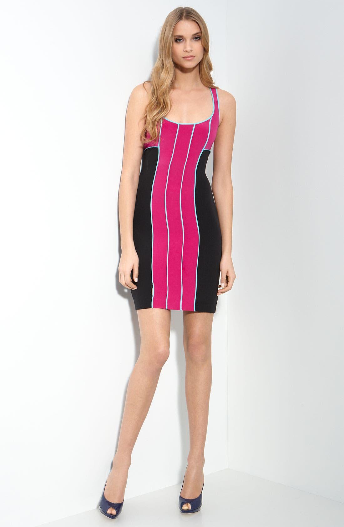 Jay Godfrey 'Holden' Colorblock Racerback Dress,                         Main,                         color, 670