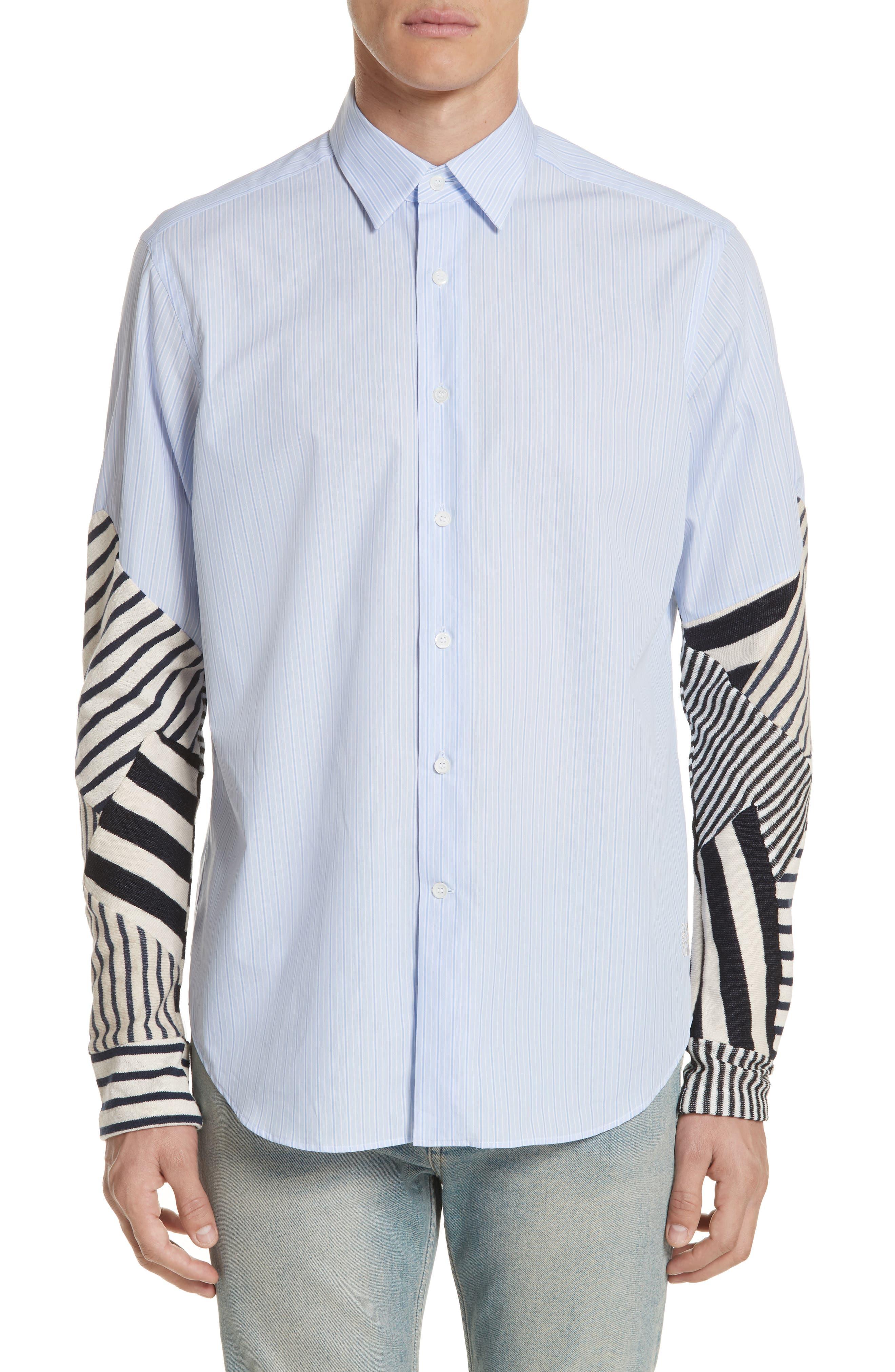 Patchwork Sleeve Shirt,                             Main thumbnail 1, color,                             112