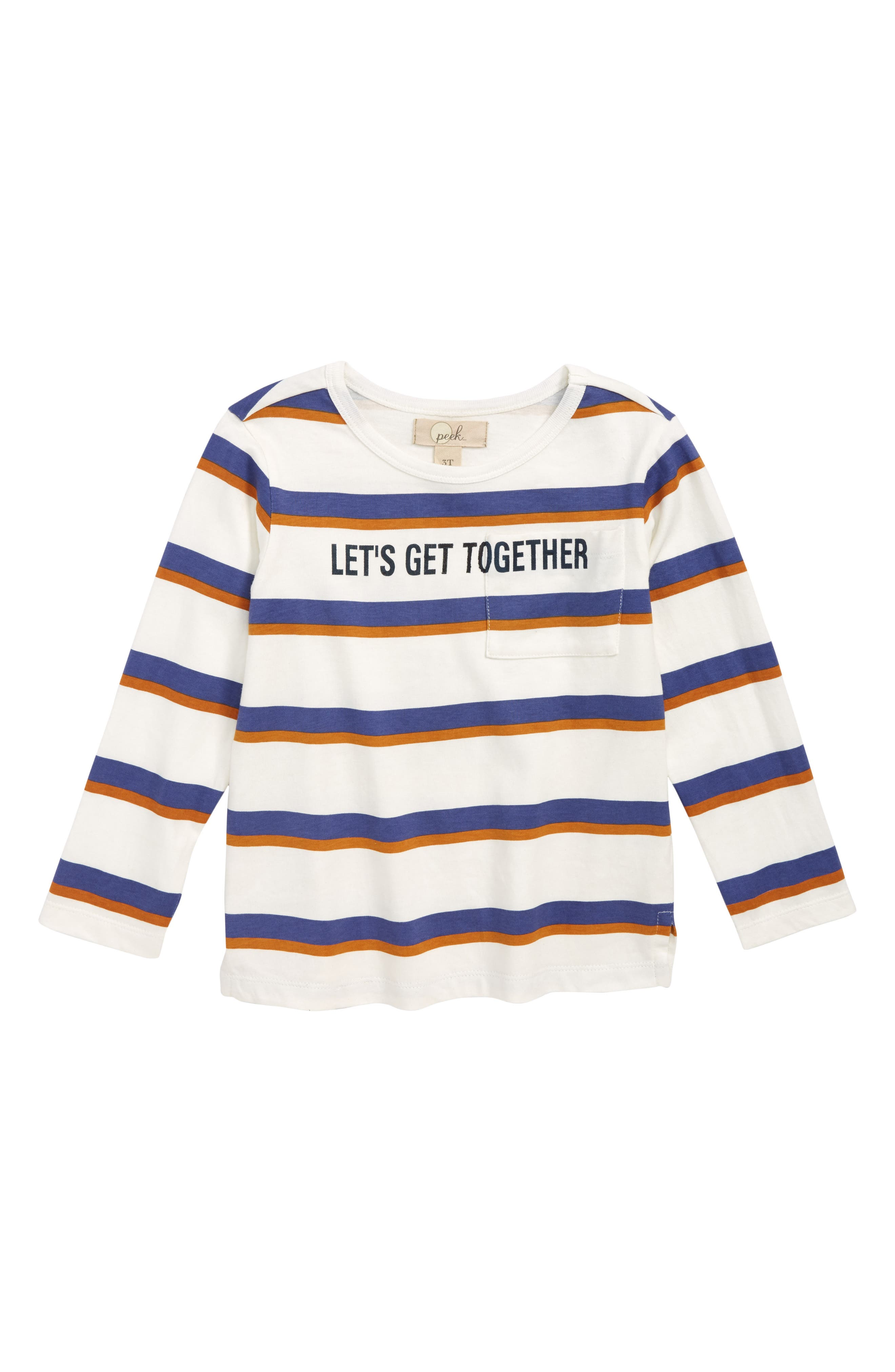 Change the World Stripe Shirt,                             Main thumbnail 1, color,                             IVORY