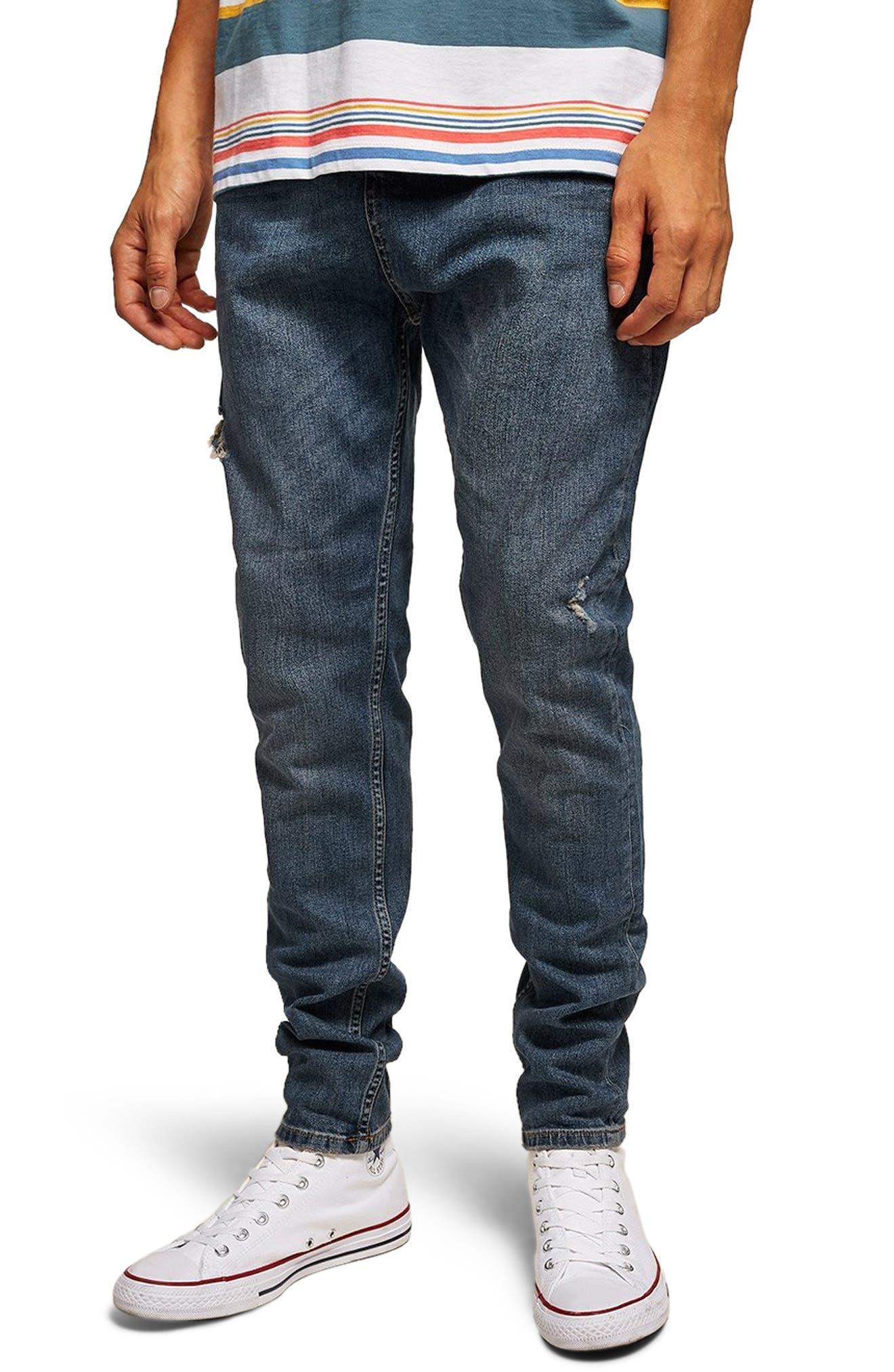 Taper Jeans,                         Main,                         color, BLUE