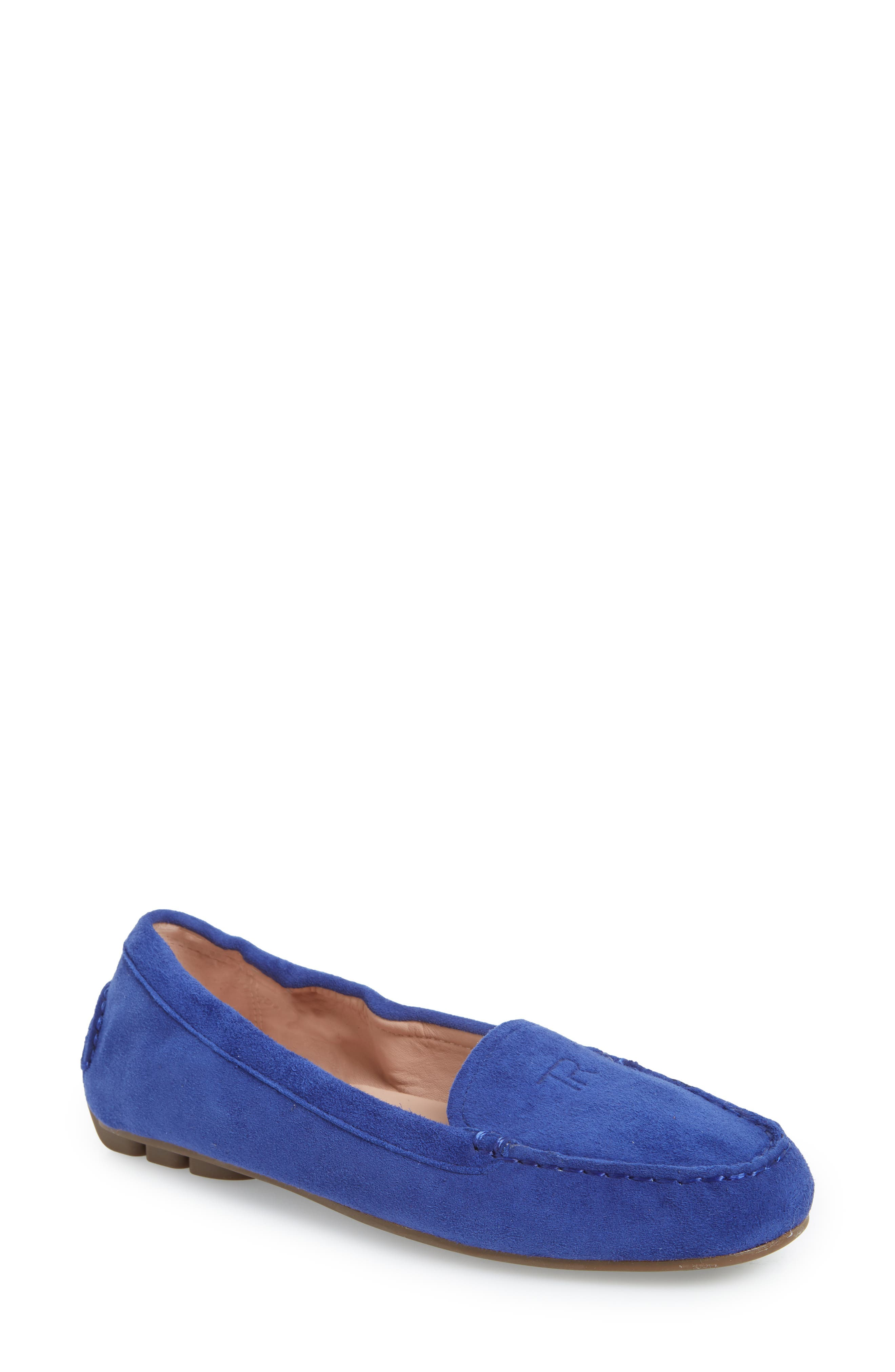 Kristine Loafer,                             Main thumbnail 1, color,                             BLUE SUEDE