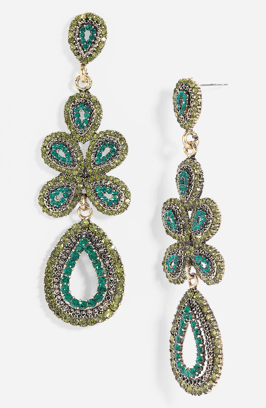 'Ornate' Linear Statement Earrings,                             Main thumbnail 8, color,