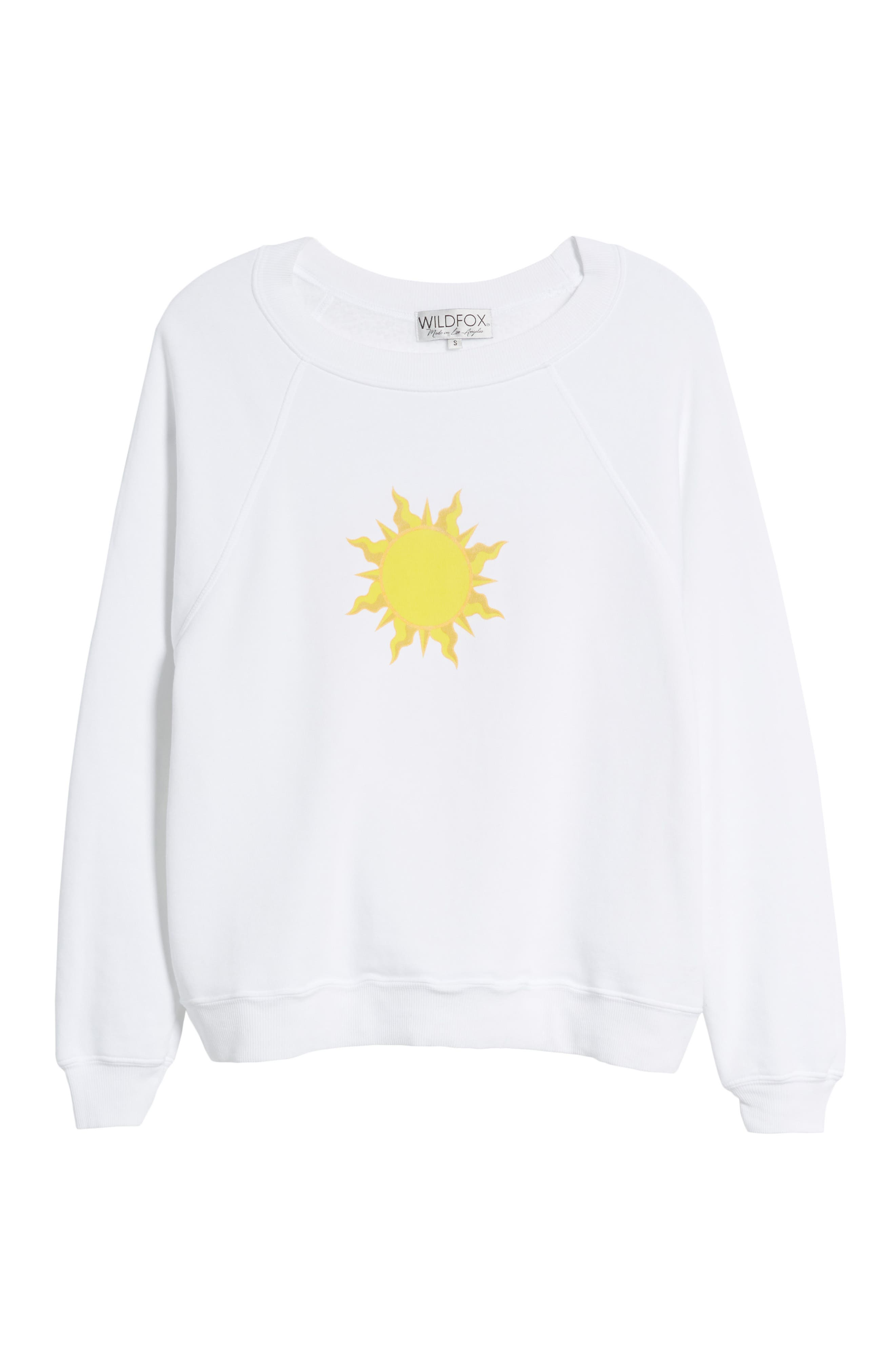 WILDFOX,                             Sunny Disposition Sommers Sweatshirt,                             Alternate thumbnail 7, color,                             100