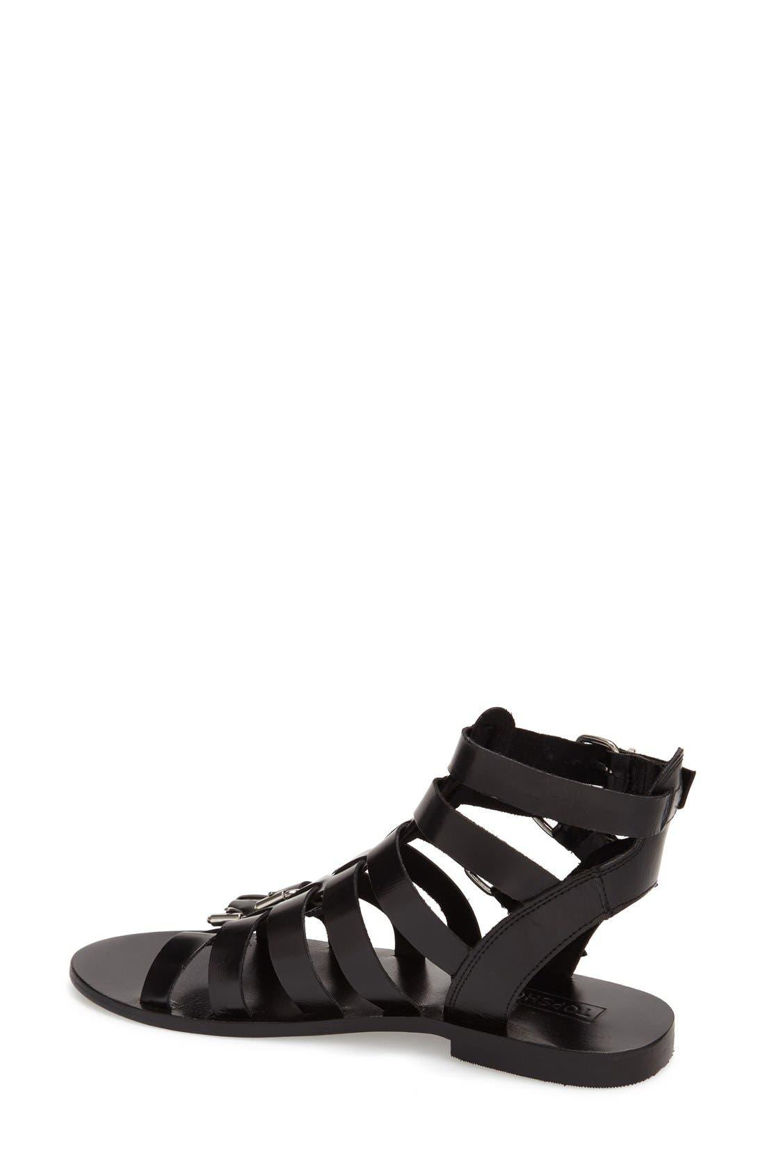 'Favorite' Flat Gladiator Sandal,                             Alternate thumbnail 3, color,                             001