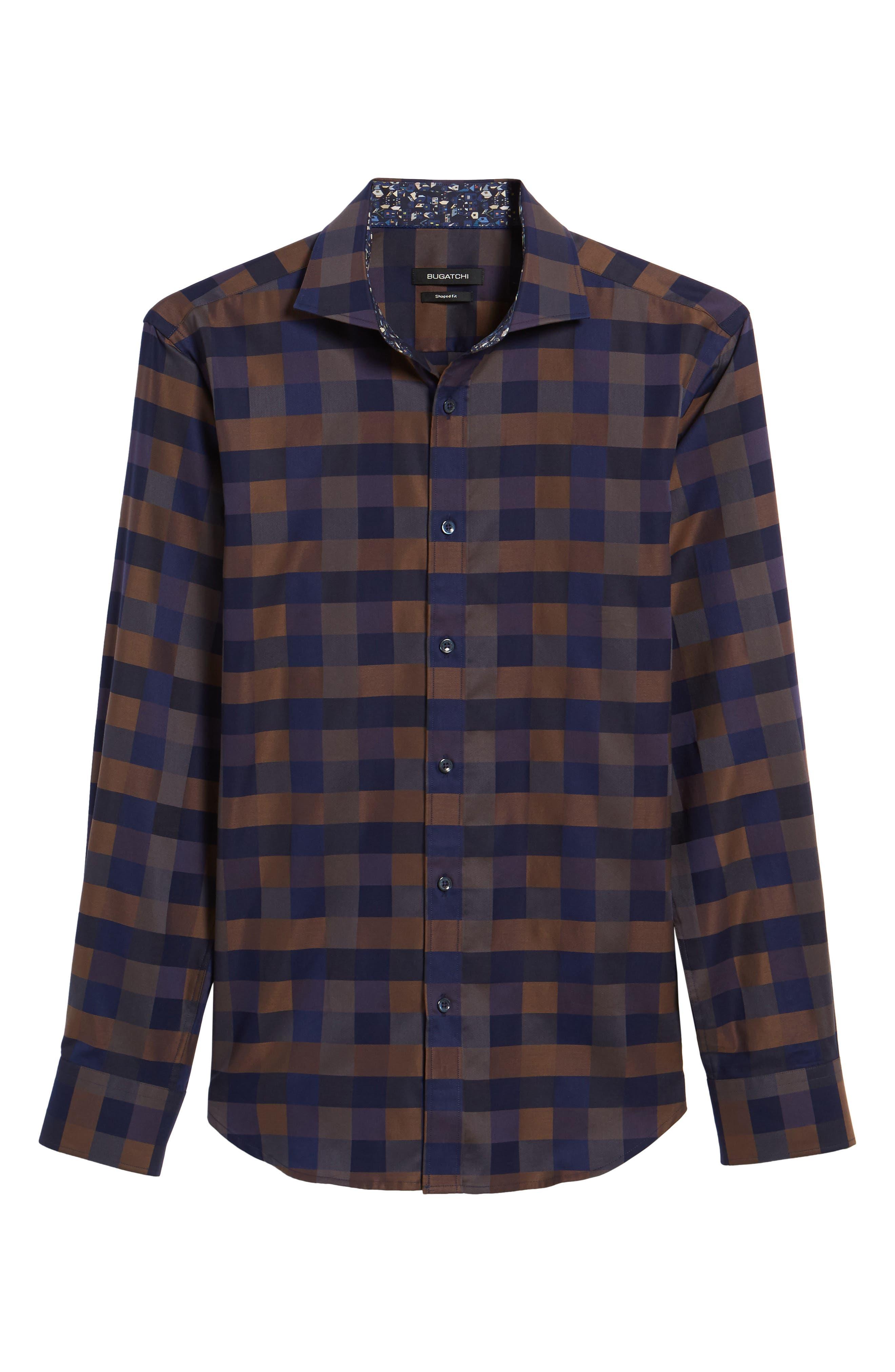 Trim Fit Box Check Sport Shirt,                             Alternate thumbnail 6, color,                             235