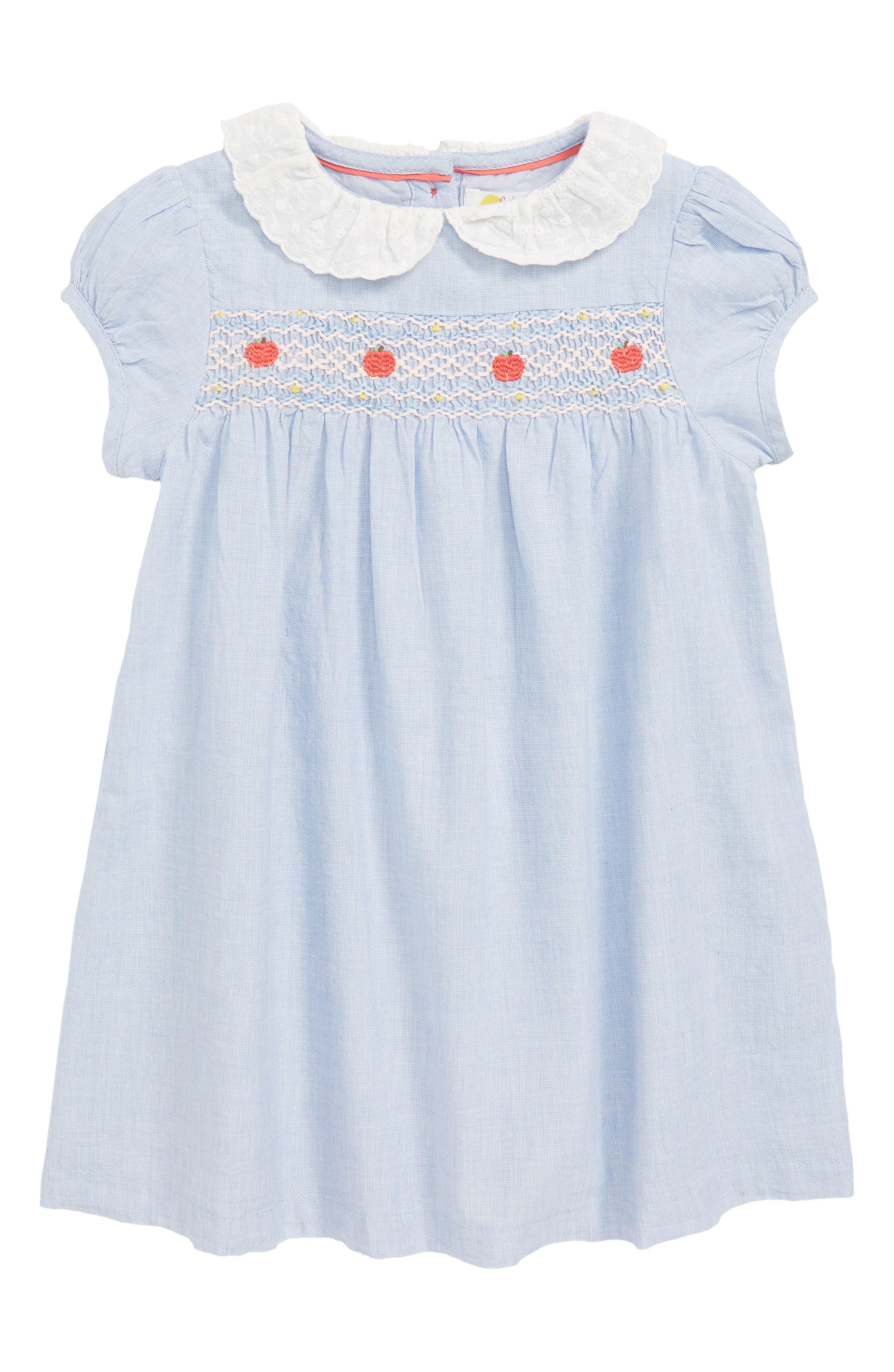 Pretty Collar Smock Dress,                             Main thumbnail 1, color,                             454