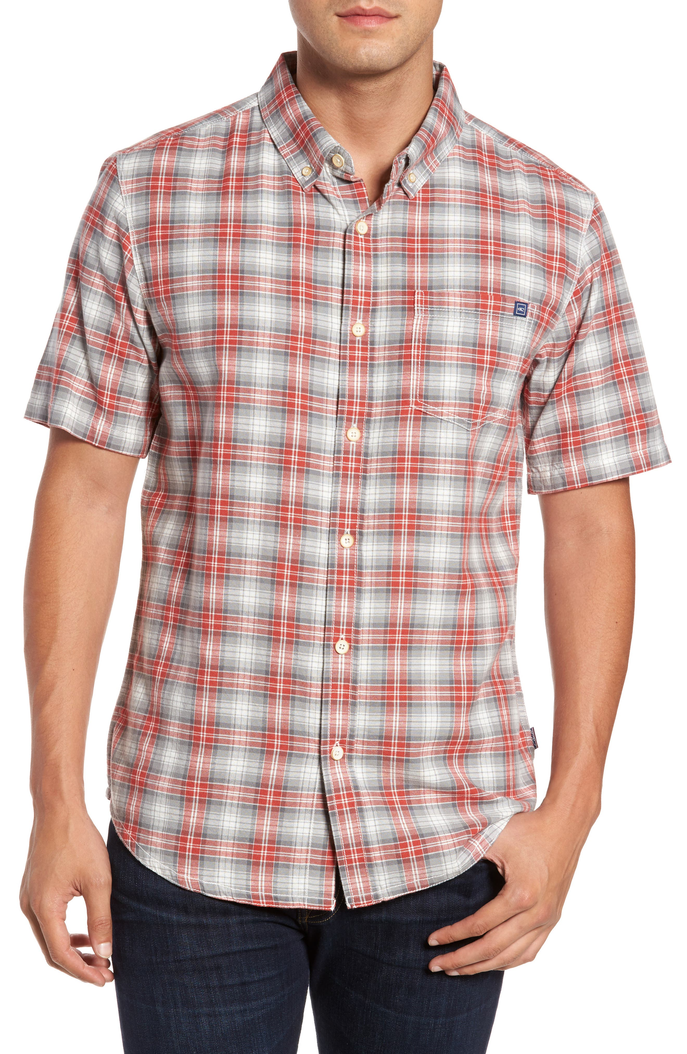 Voyager Plaid Sport Shirt,                             Main thumbnail 1, color,