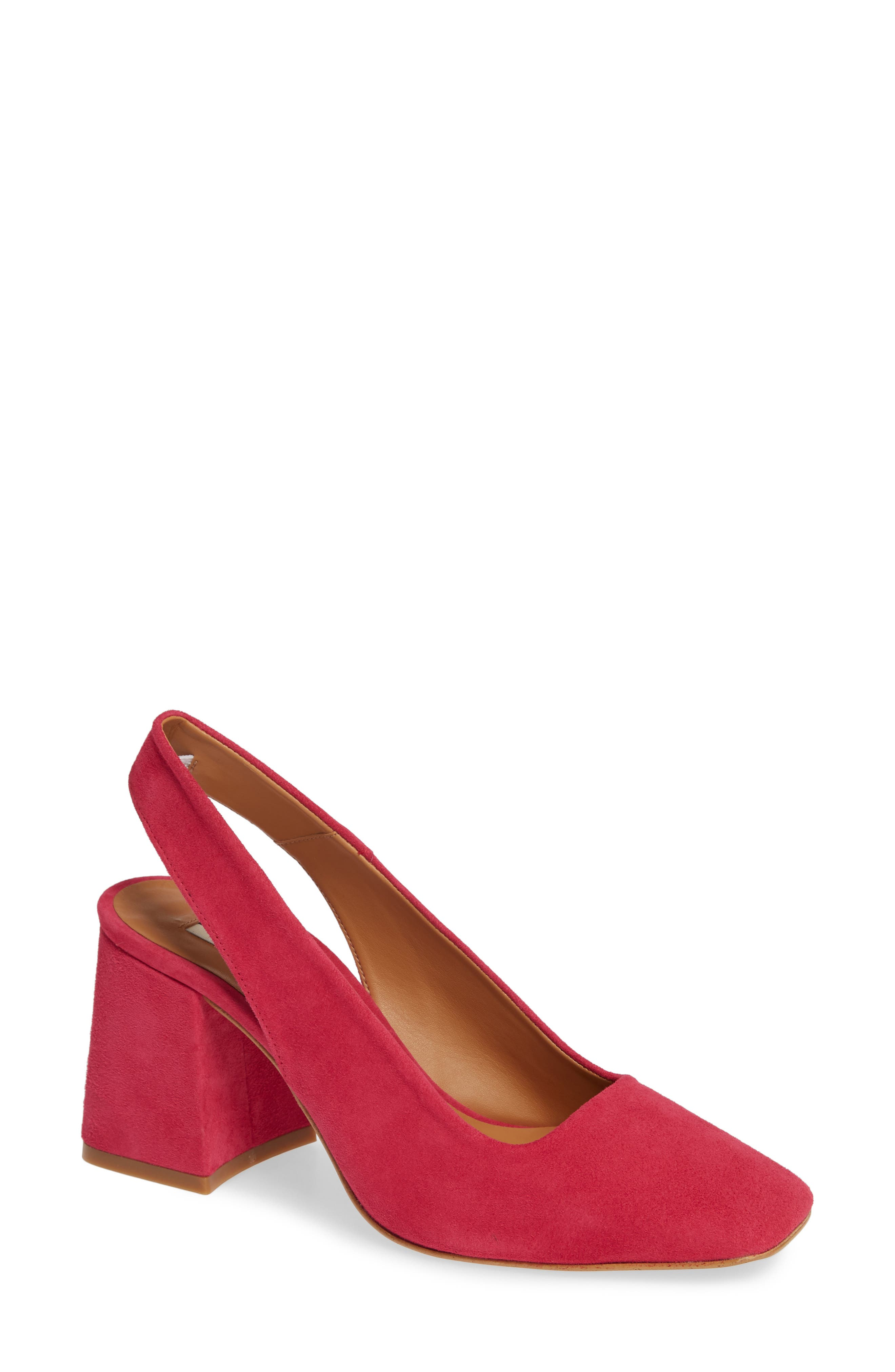 Gainor Block Heel Slingback Pump,                             Main thumbnail 1, color,                             PINK