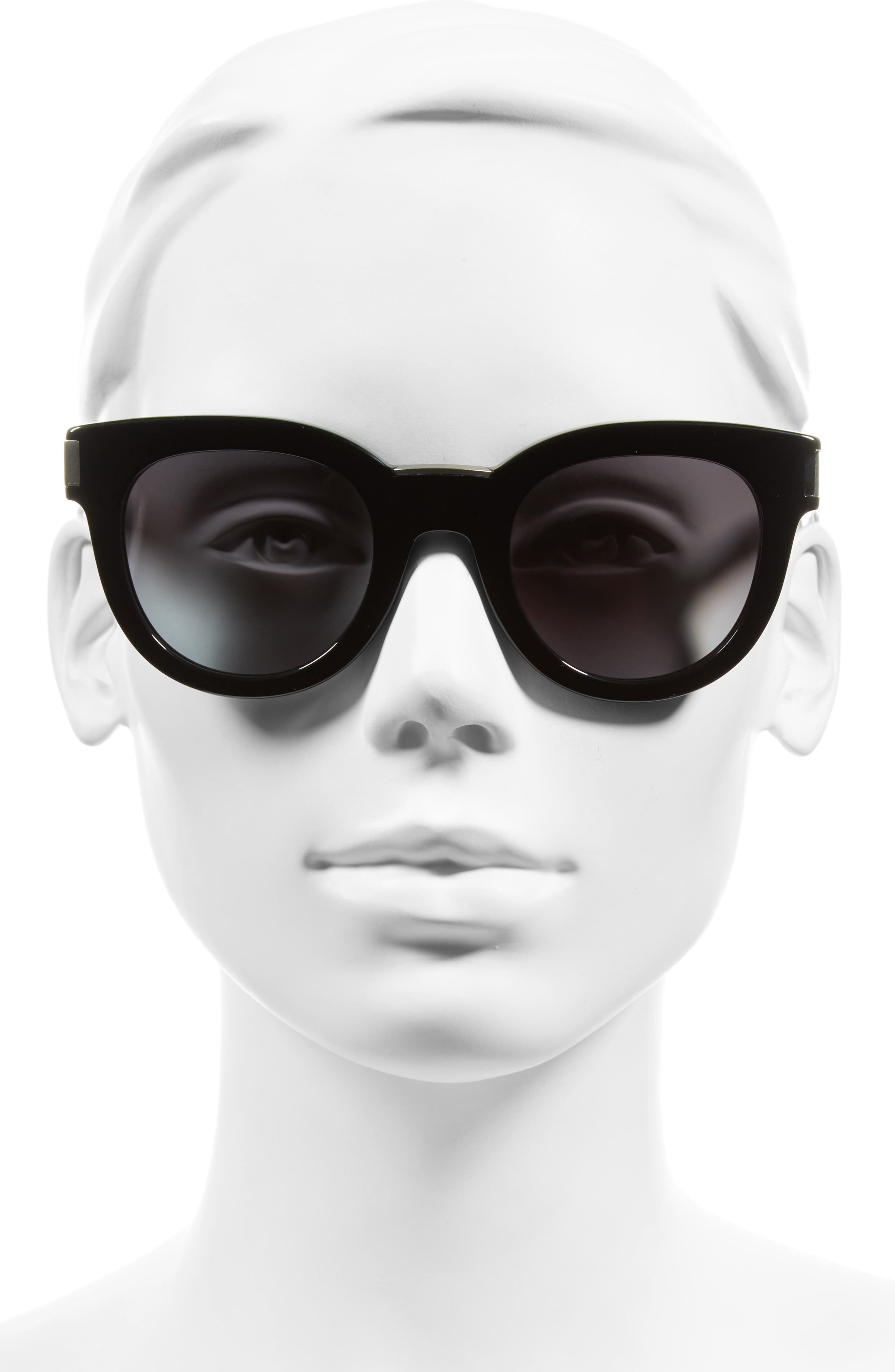 49mm Butterfly Sunglasses,                             Alternate thumbnail 3, color,                             001