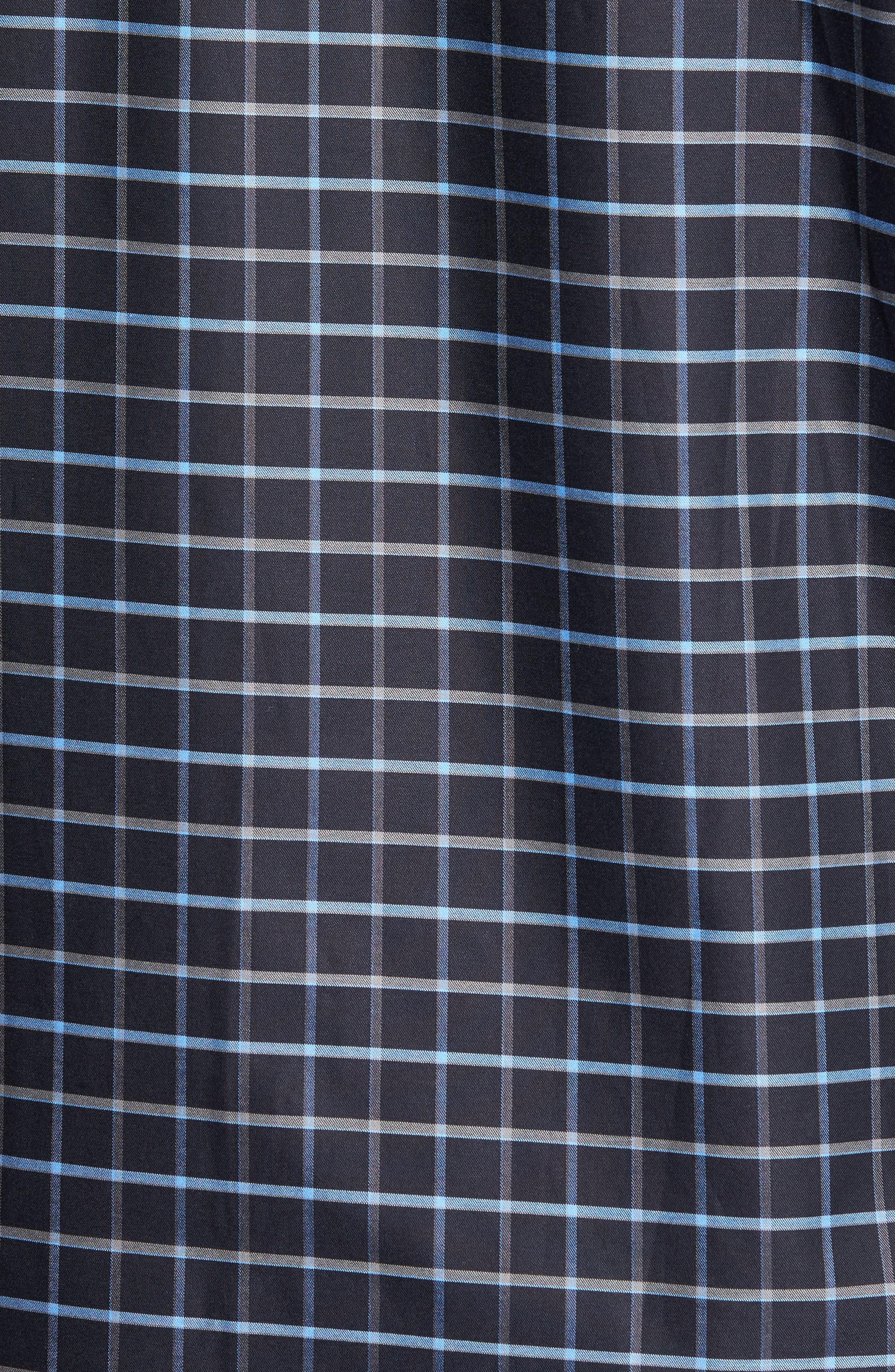 Classic Fit Grid Print Sport Shirt,                             Alternate thumbnail 5, color,                             001