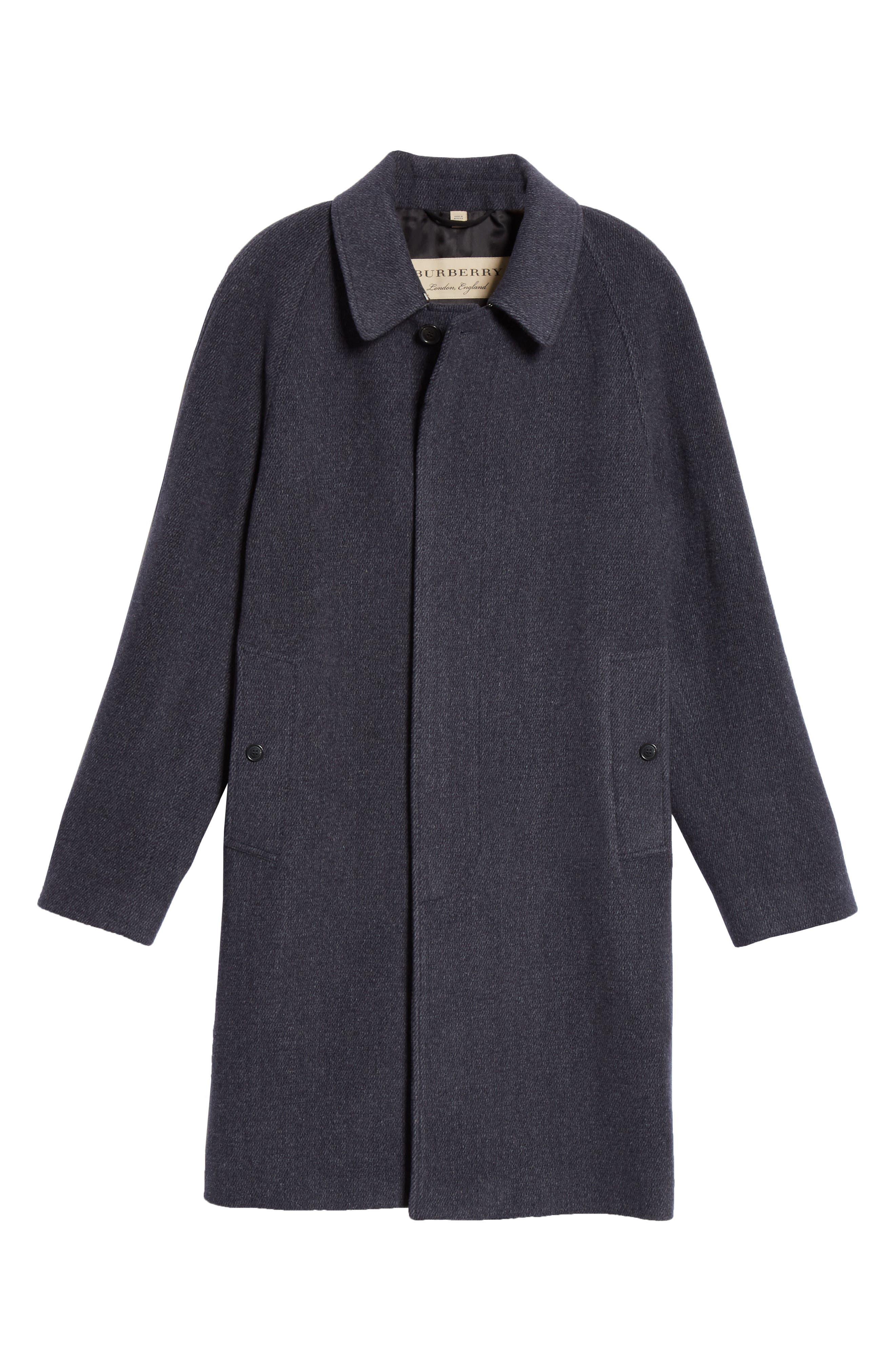 Camden Wool Blend Car Coat,                             Alternate thumbnail 5, color,                             CHARCOAL