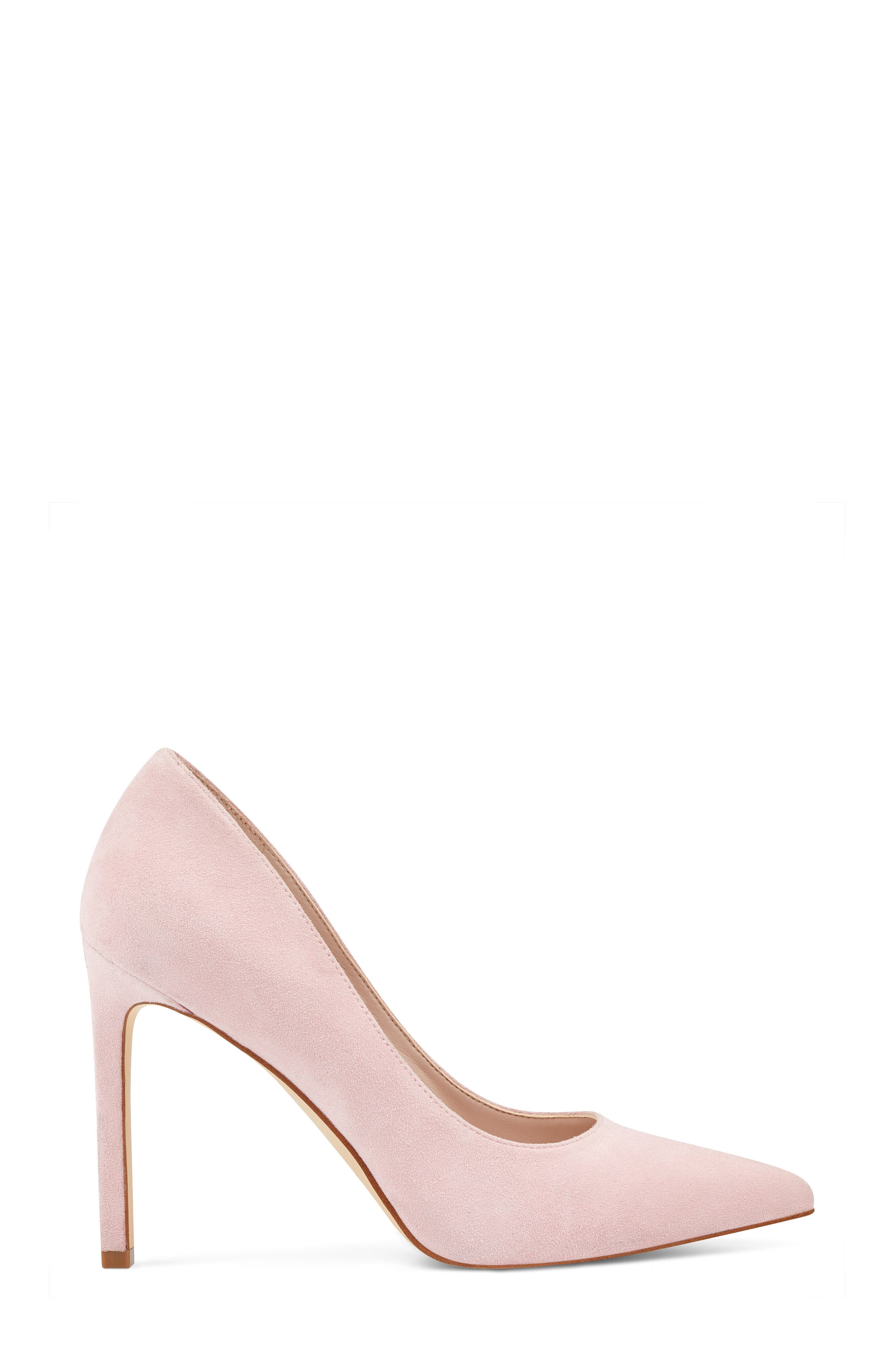 'Tatiana' Pointy Toe Pump,                             Alternate thumbnail 3, color,                             LIGHT PINK SUEDE