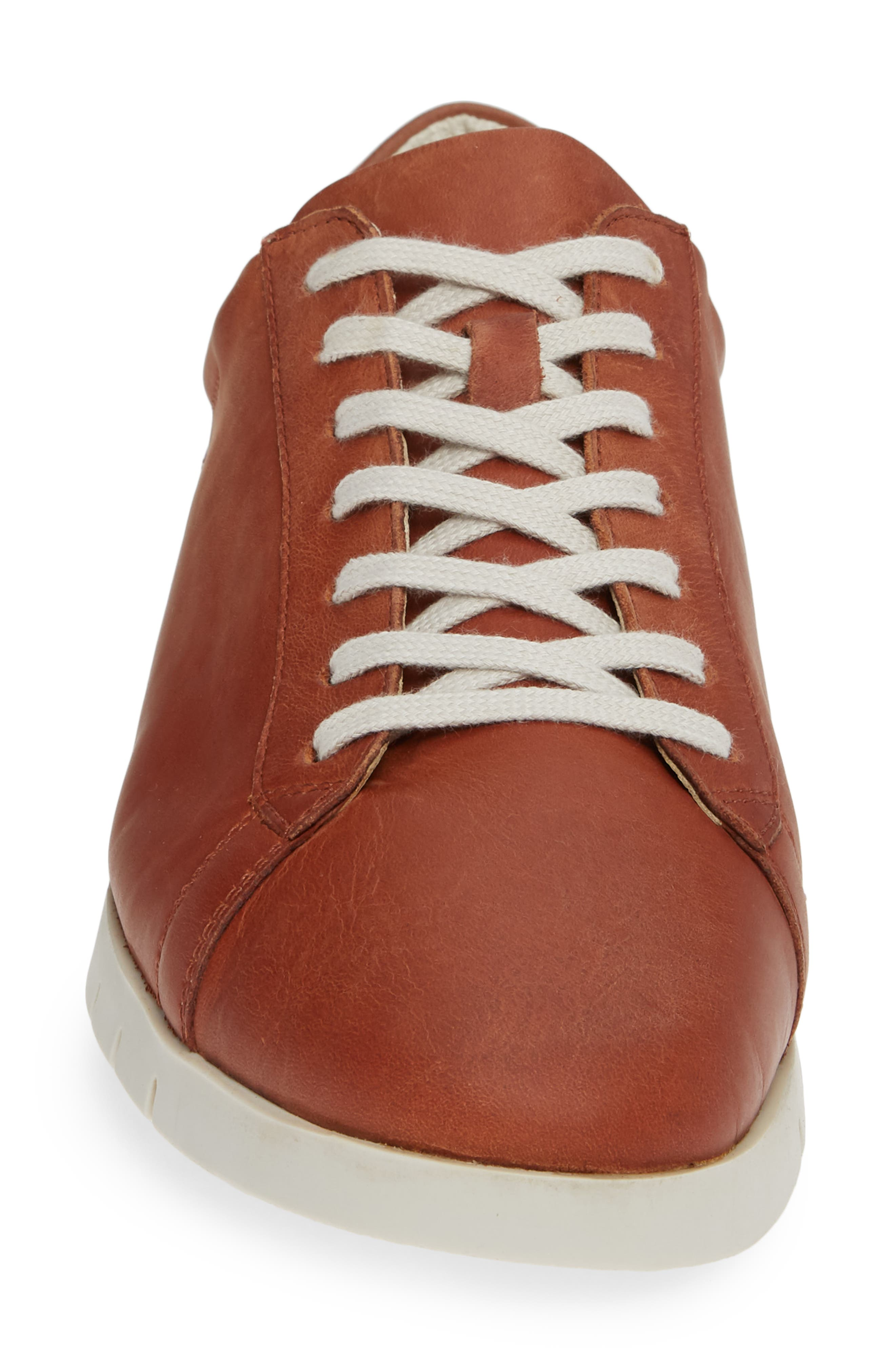 Cer Low-Top Sneaker,                             Alternate thumbnail 4, color,                             COGNAC CORGI LEATHER