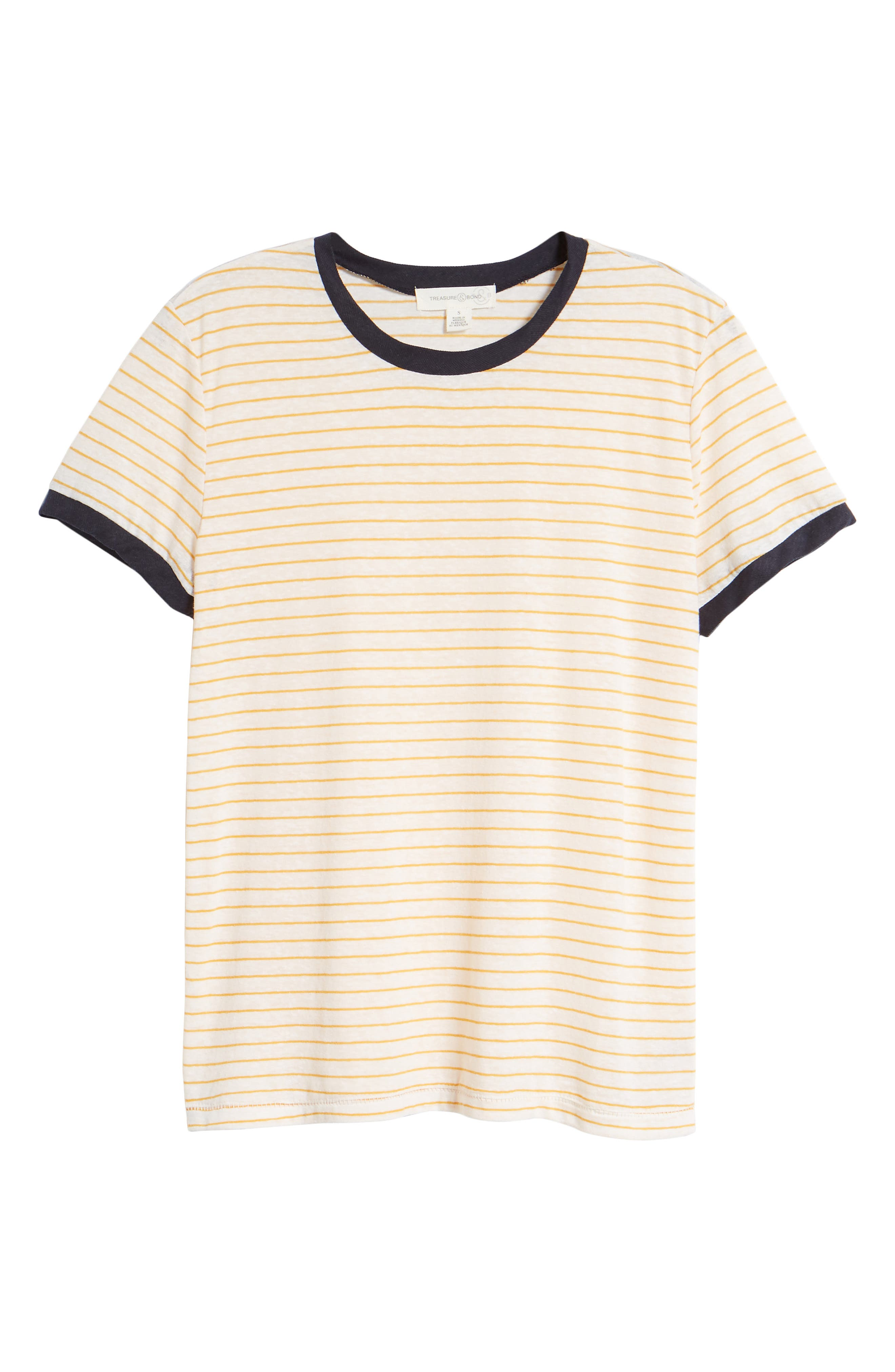 Stripe Ringer Tee,                             Alternate thumbnail 6, color,