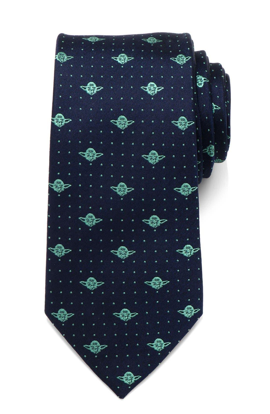 'Yoda' Silk Tie,                         Main,                         color, BLUE