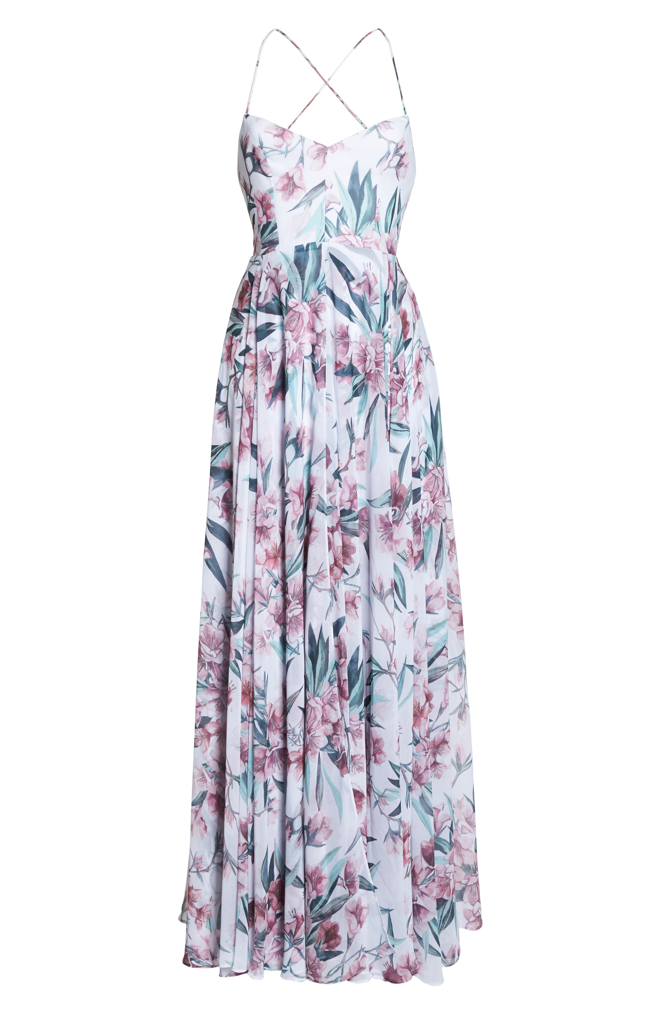 Khoo Floral Gown,                             Alternate thumbnail 6, color,                             100