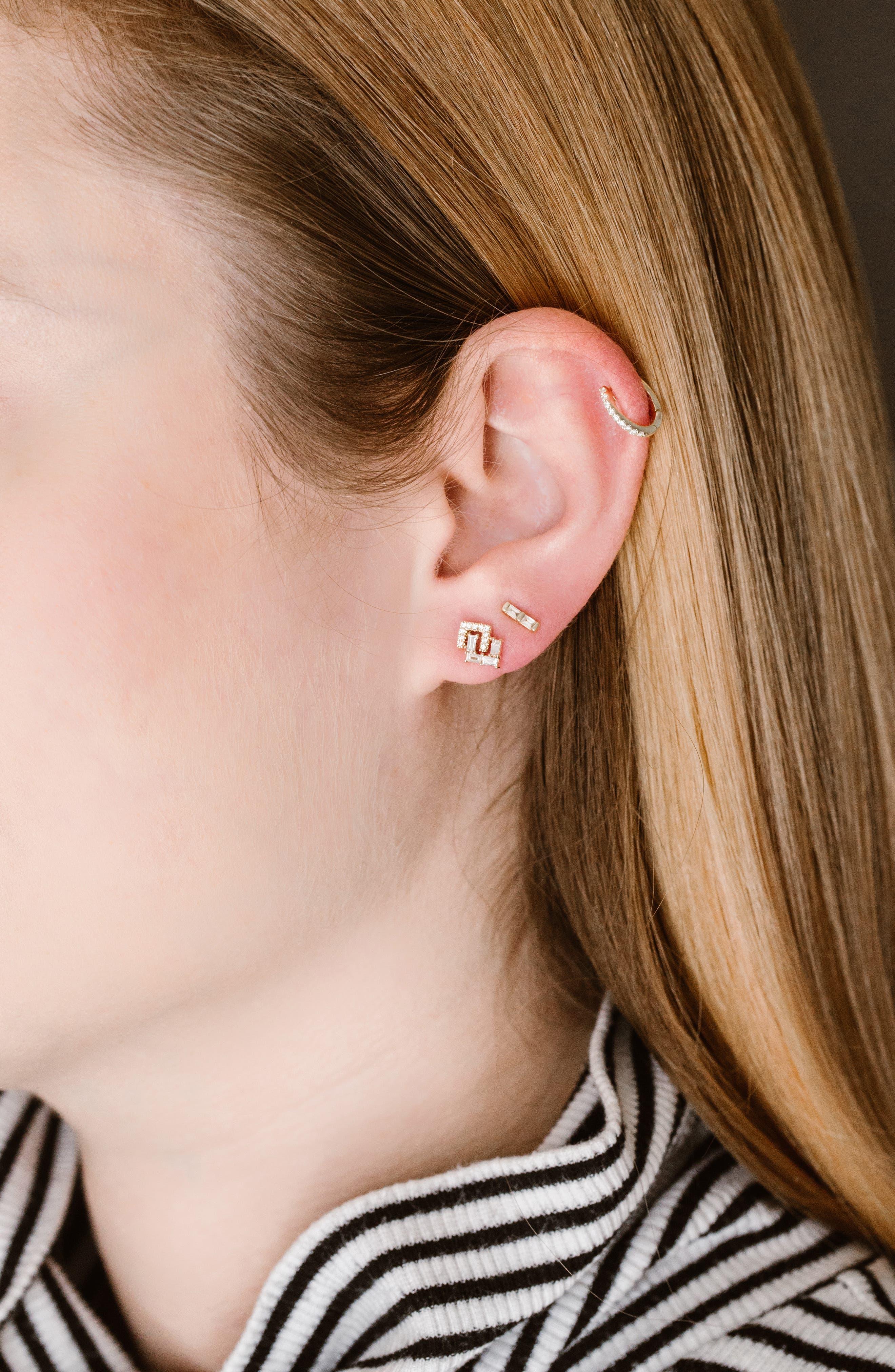 Dana Rebecca Sadie Diamond Stud Earrings,                             Alternate thumbnail 3, color,                             YELLOW GOLD