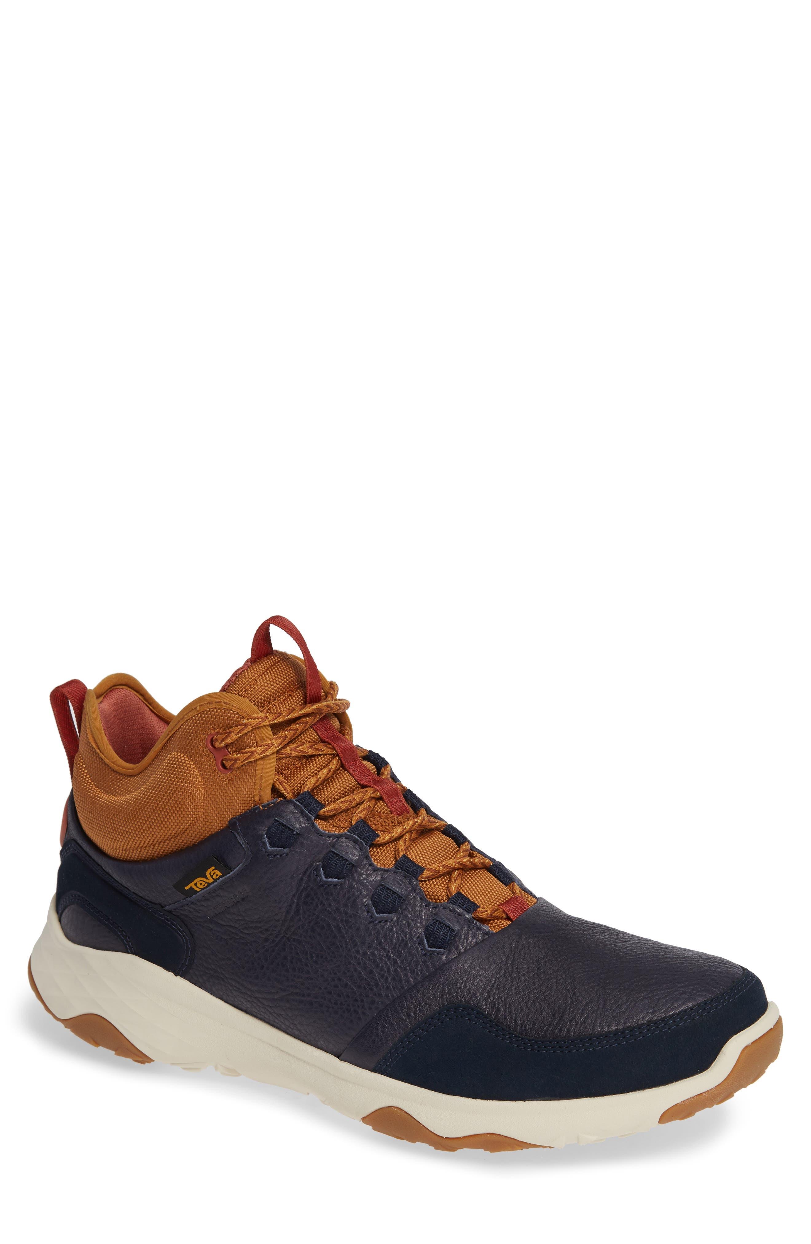 Arrowood 2 Mid Waterproof Sneaker Boot,                         Main,                         color, MIDNIGHT NAVY LEATHER