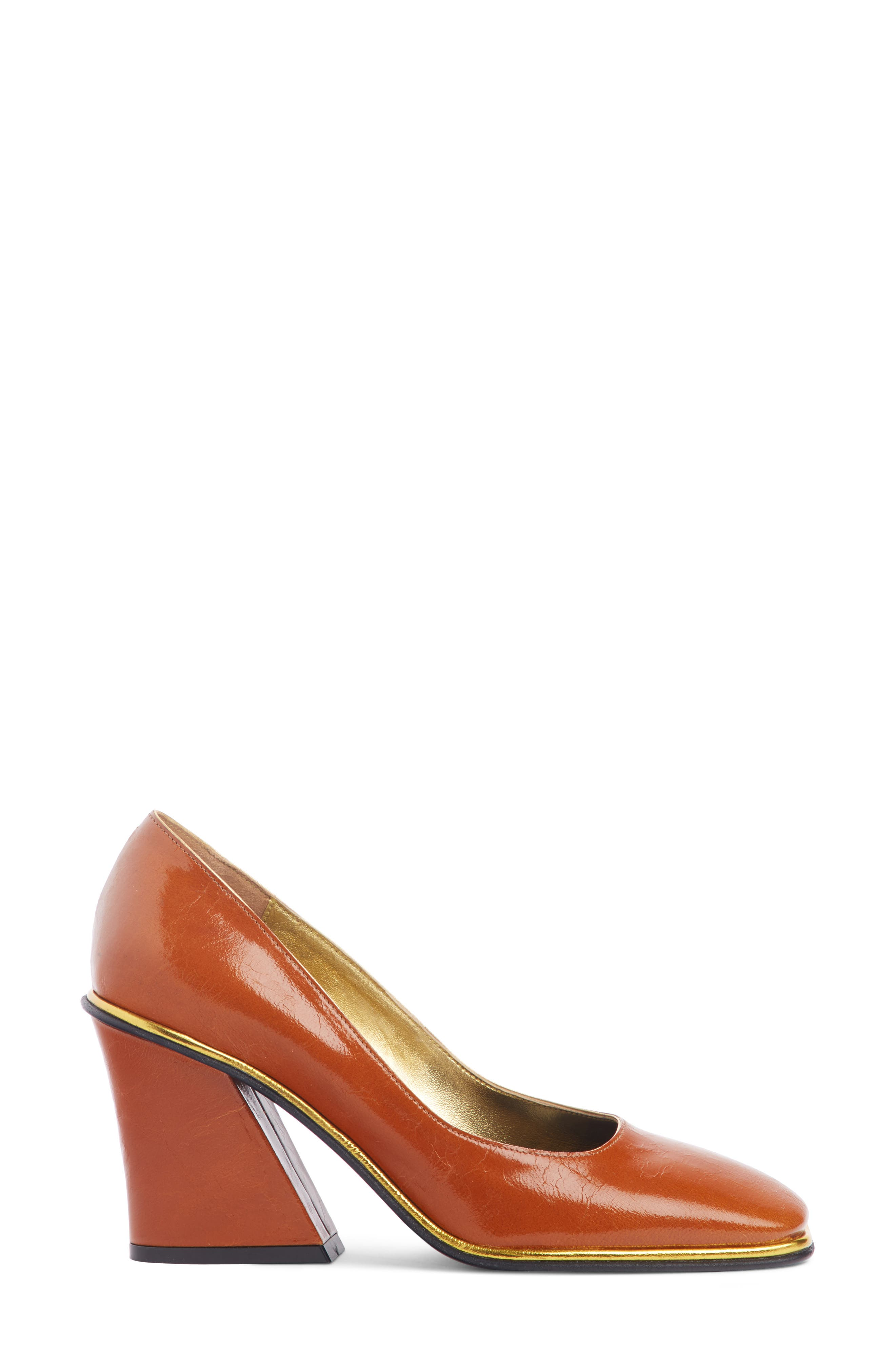 Square Toe Pump,                             Alternate thumbnail 3, color,                             TAN