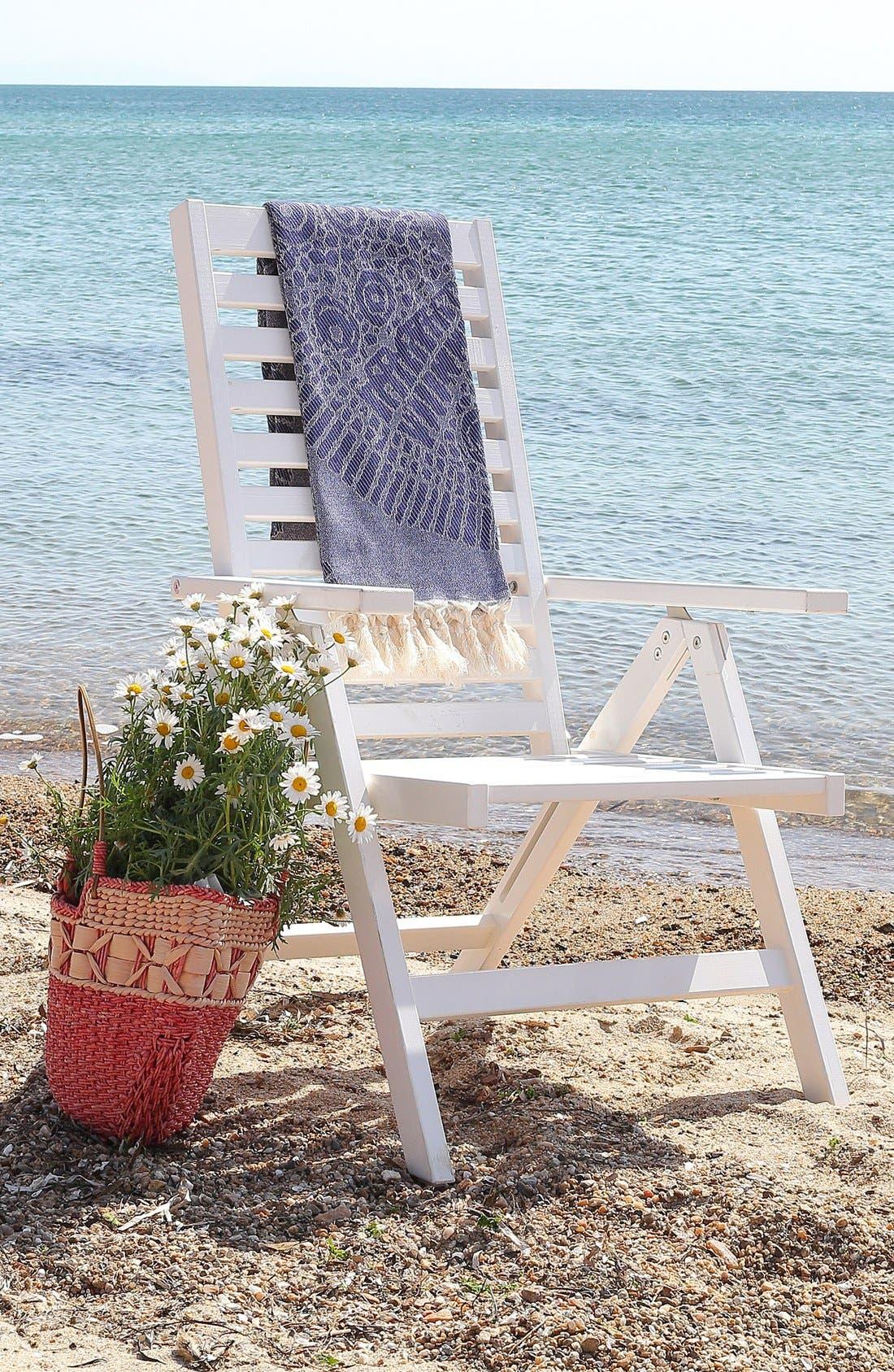 Anatolian Turkish Pestemal Beach Towel,                             Alternate thumbnail 4, color,                             400