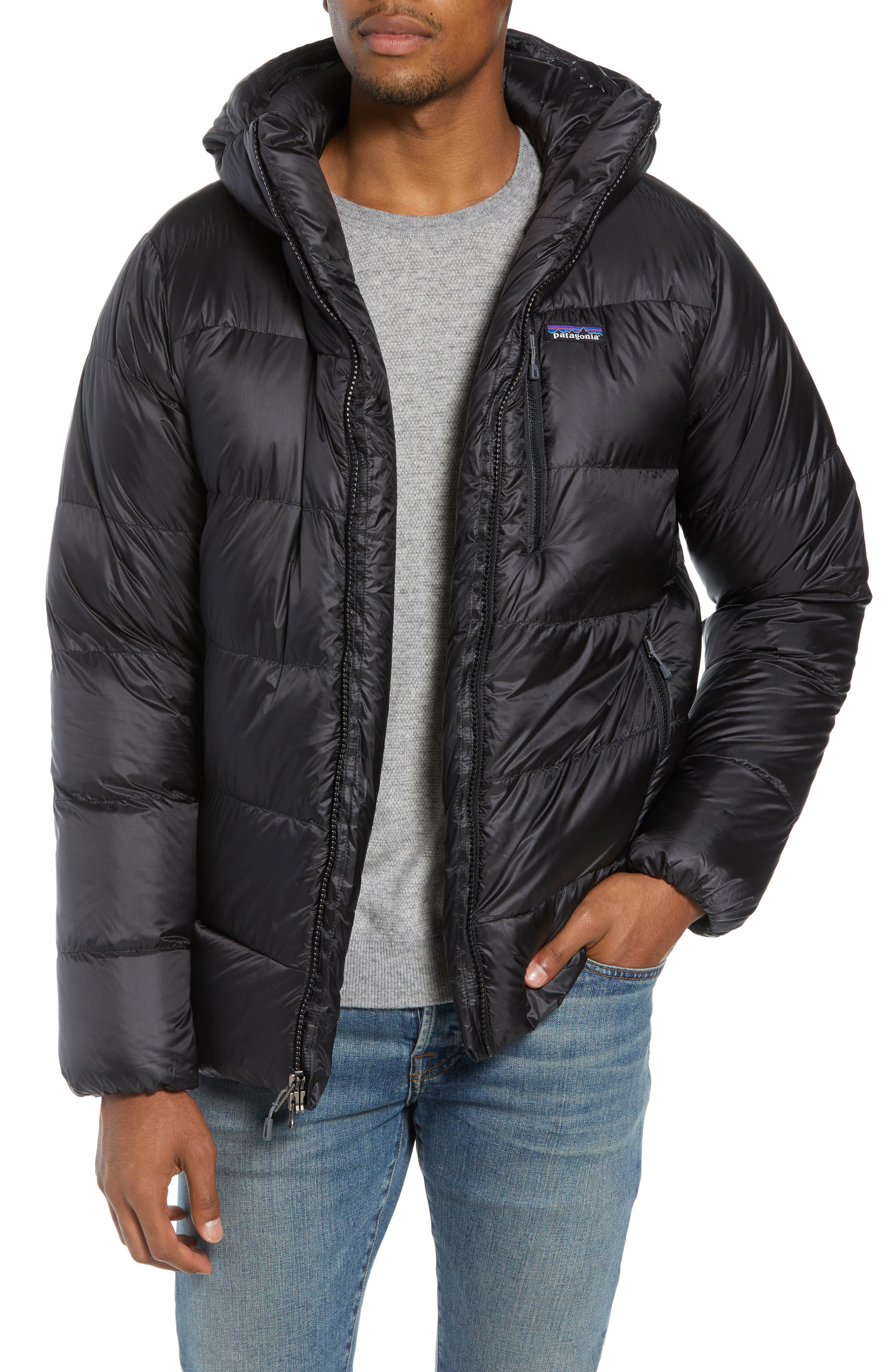 Fitz Roy Water Repellent 800-Fill-Power Down Parka,                             Alternate thumbnail 4, color,                             001