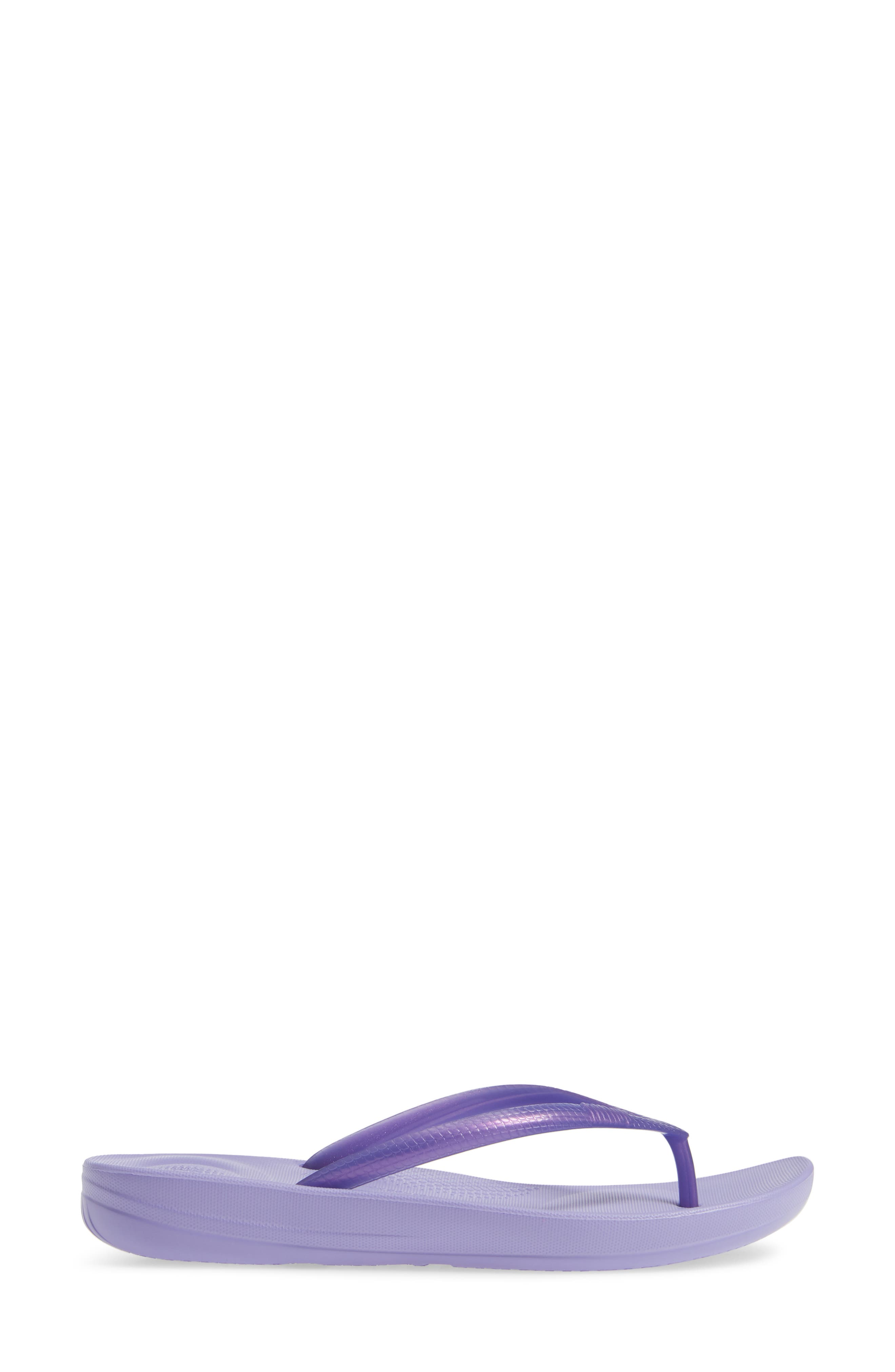 iQUSHION<sup>™</sup> Ergonomic Flip Flop,                             Alternate thumbnail 3, color,                             FROSTED LAVENDER