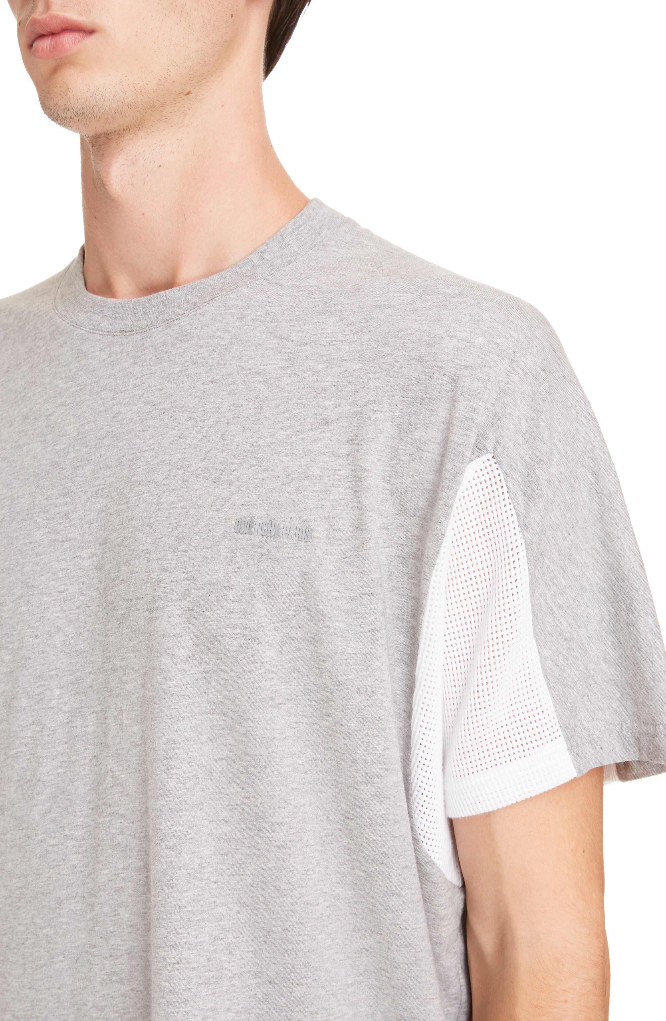 Mesh Jersey Crewneck T-Shirt,                             Alternate thumbnail 4, color,