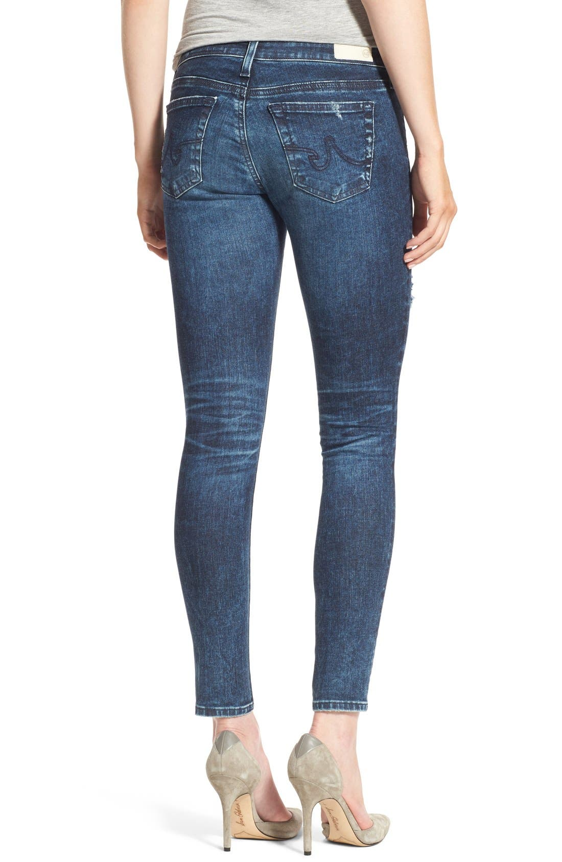 'The Legging' Ankle Super Skinny Jeans,                             Alternate thumbnail 9, color,