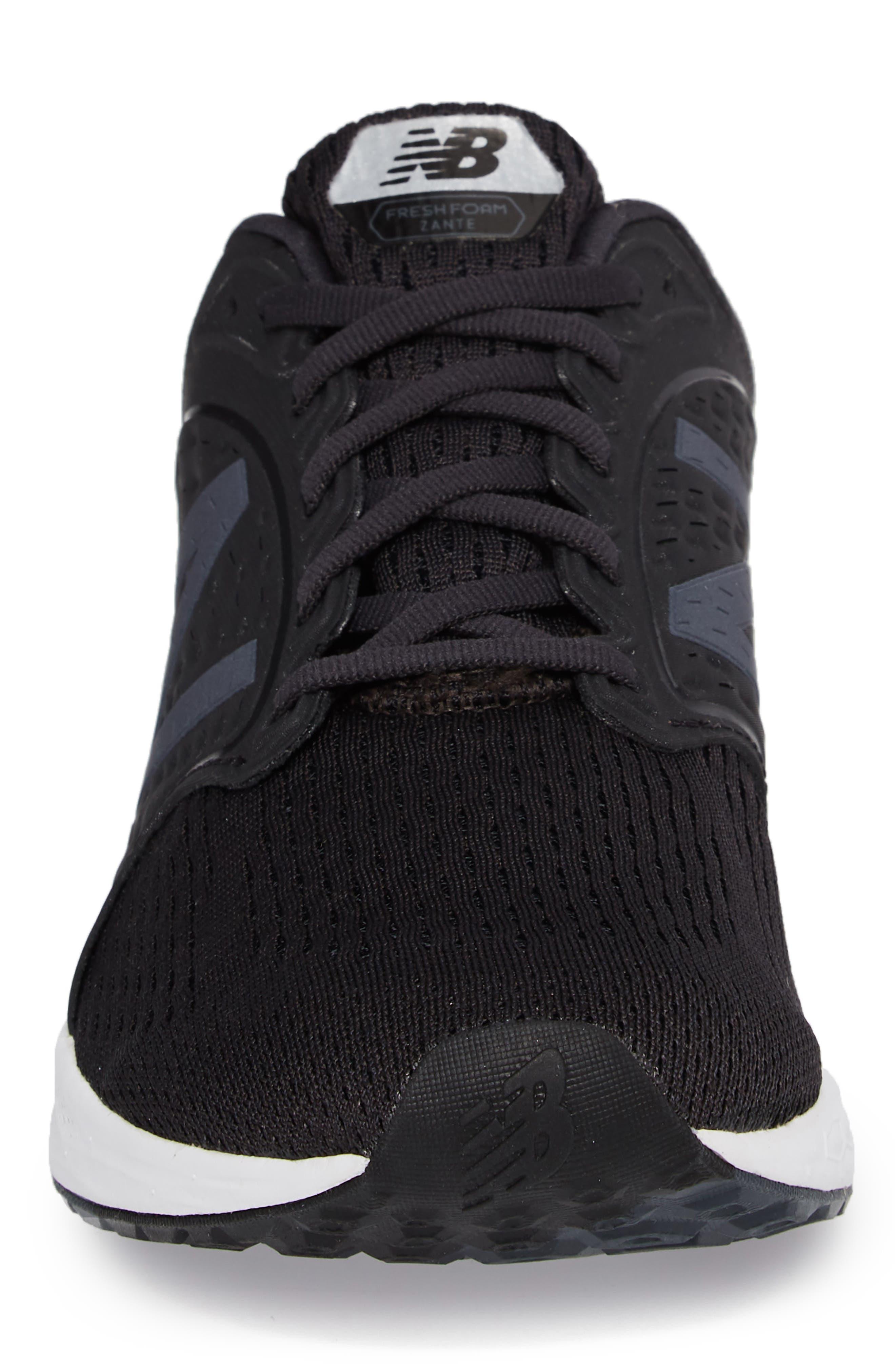 Fresh Foam Zante v4 Sneaker,                             Alternate thumbnail 4, color,                             BLACK