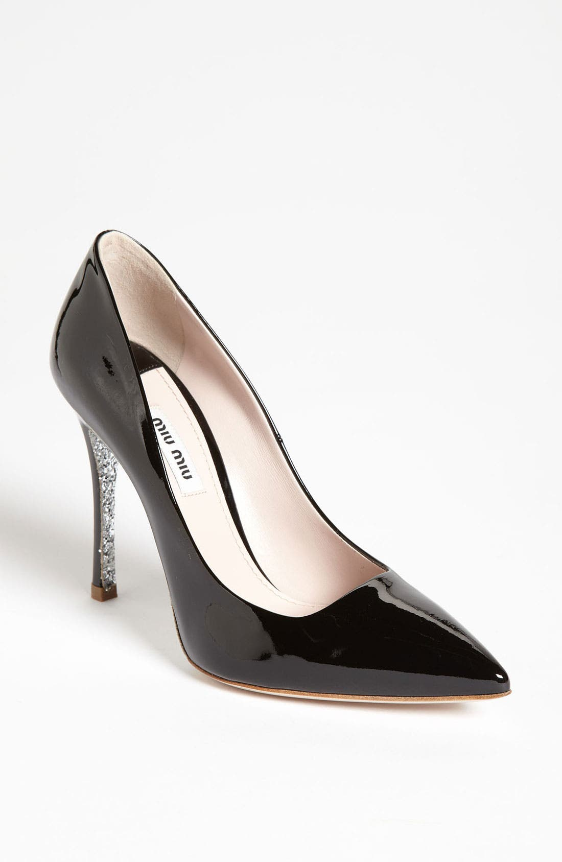 Glitter Sole Pointy Toe Pump,                             Main thumbnail 1, color,