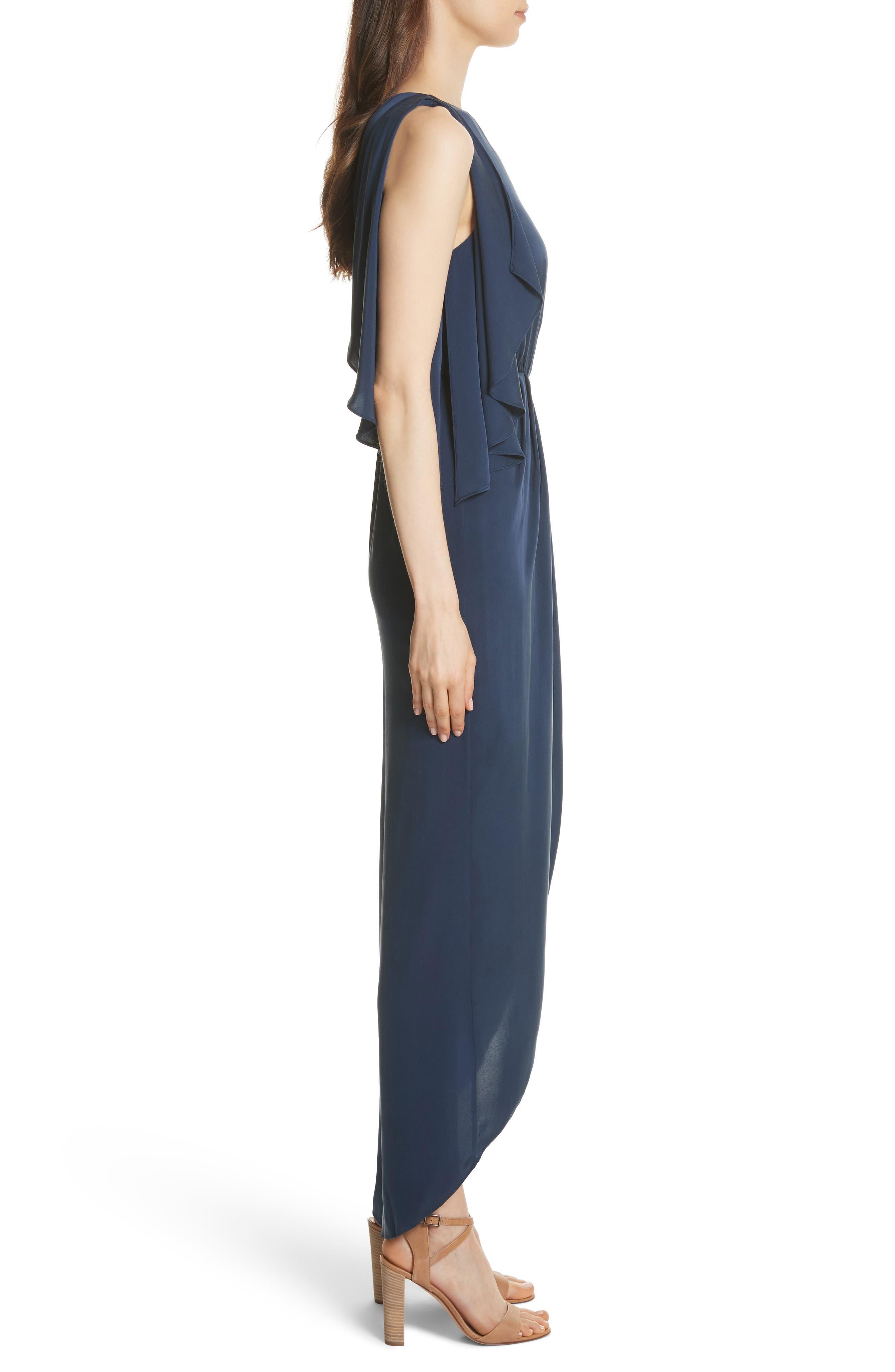 Oleta Side Drape Goddess Dress,                             Alternate thumbnail 3, color,                             460