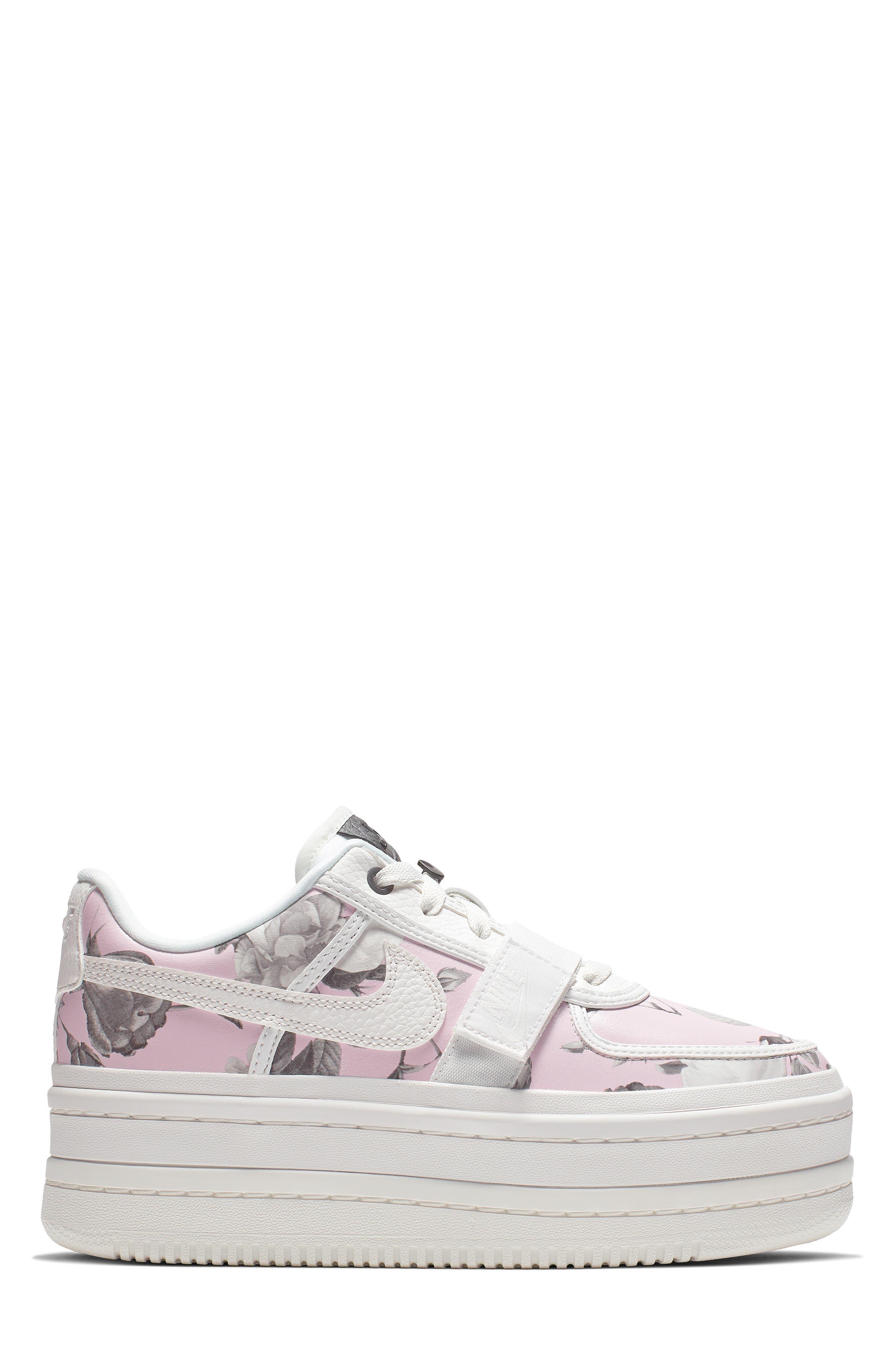 NIKE,                             Vandal 2K LX Platform Sneaker,                             Alternate thumbnail 3, color,                             WHITE/ WHITE/ BLACK