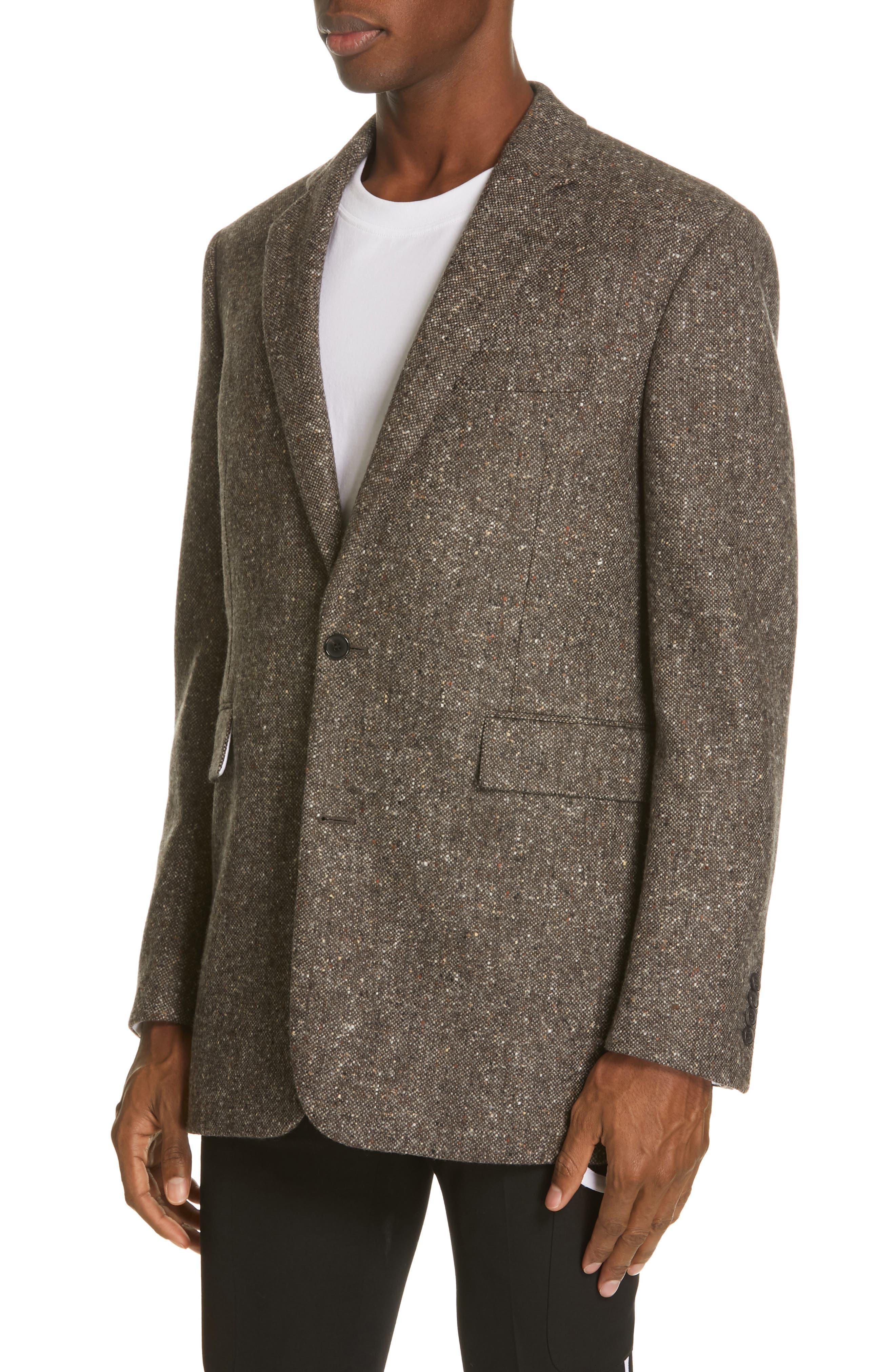 Tweed Wool Jacket,                             Alternate thumbnail 4, color,                             030